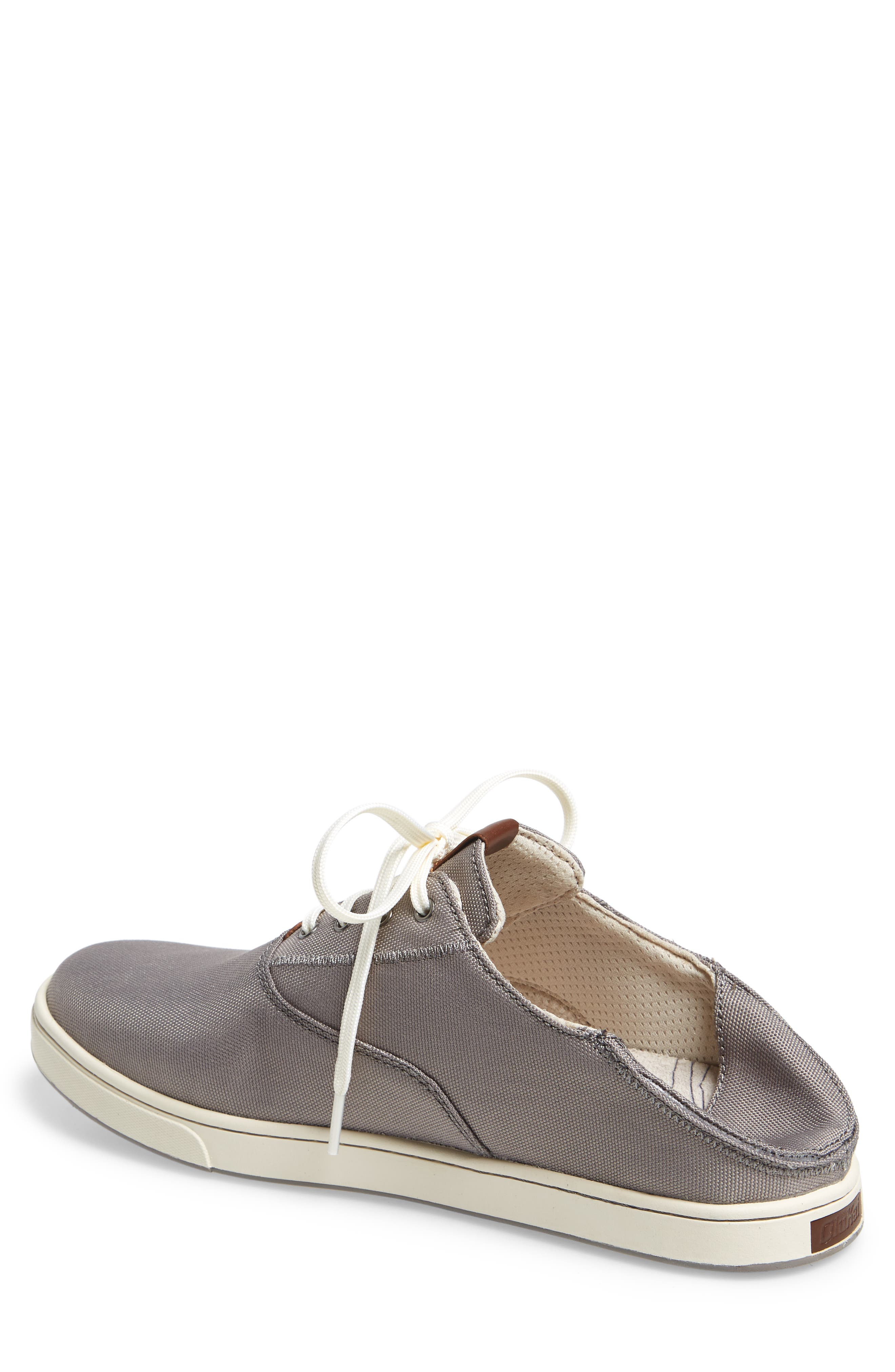 Kahu Collapsible Lace-Up Sneaker,                             Alternate thumbnail 2, color,                             Fog/ Off White