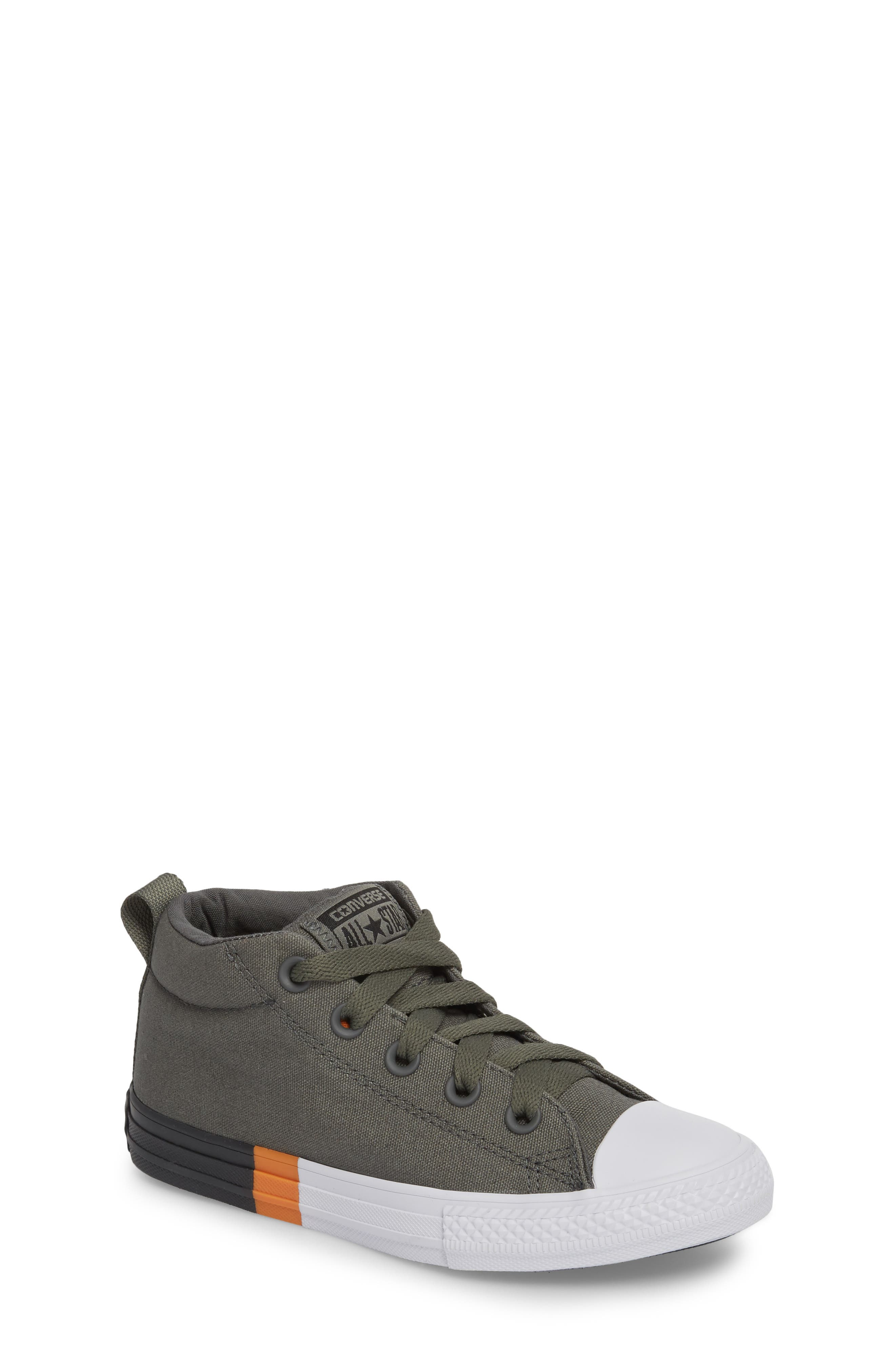 Chuck Taylor<sup>®</sup> All Star<sup>®</sup> Street Colorblock Mid Top Sneaker,                         Main,                         color, River Rock