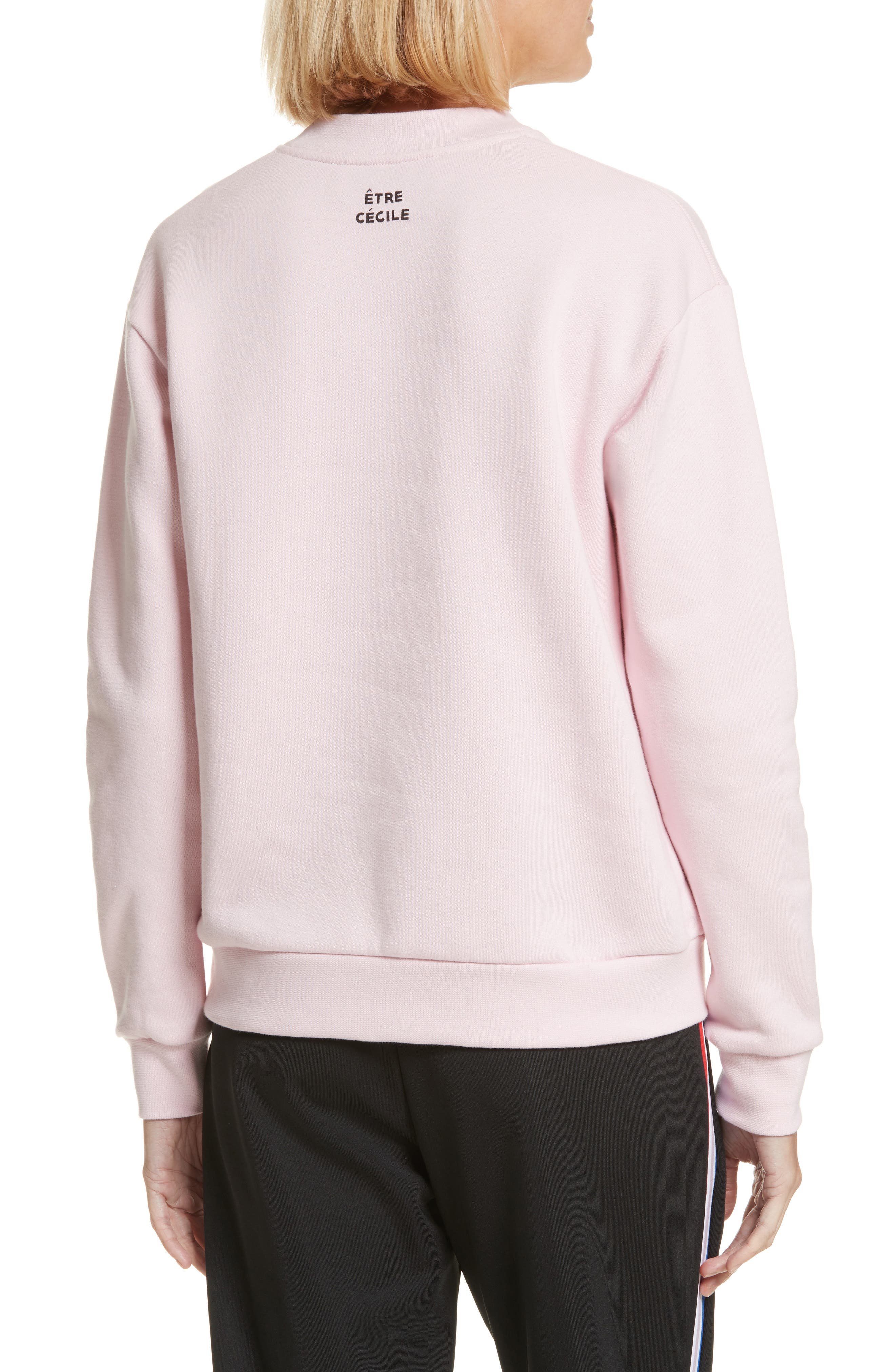 être cécile Déjà Dudé Boyfriend Sweatshirt,                             Alternate thumbnail 2, color,                             Chalk Pink