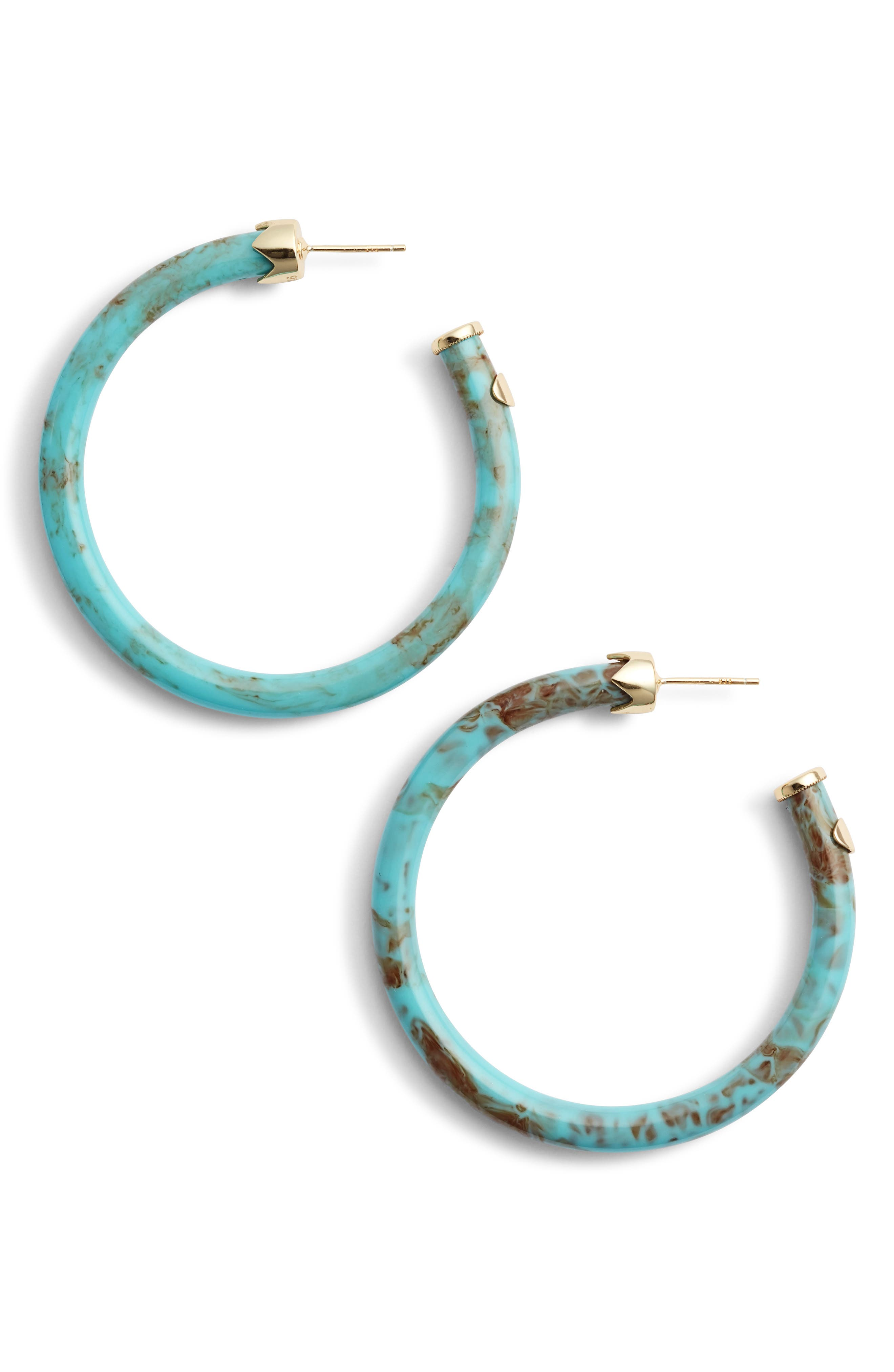 Argento Vivo Marbleized Hoop Earrings