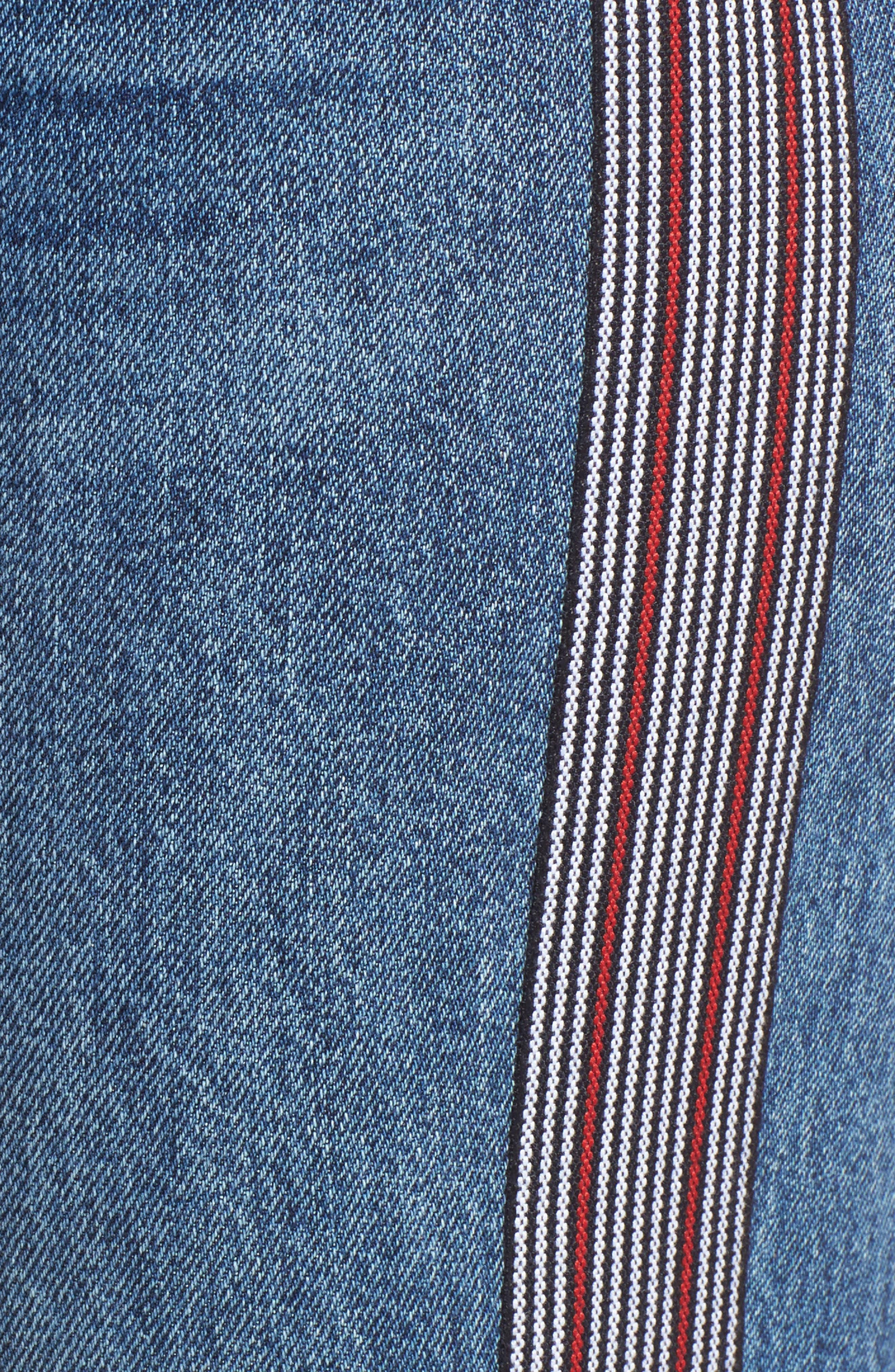 Riley Crop Straight Leg Jeans,                             Alternate thumbnail 6, color,                             Forgiver