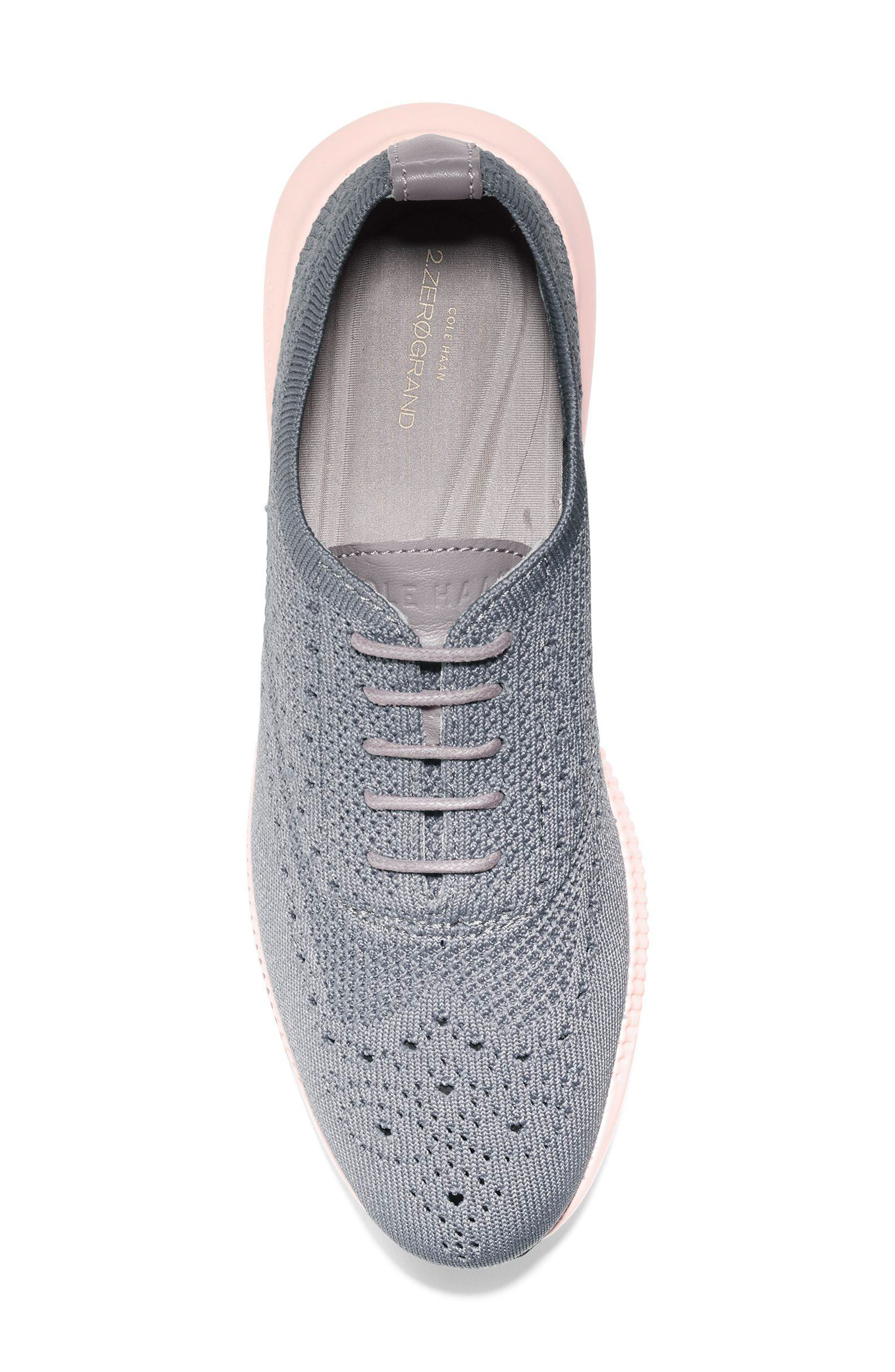 2.ZERØGRAND Stitchlite Wingtip Sneaker,                             Alternate thumbnail 5, color,                             Ironstone Knit Fabric