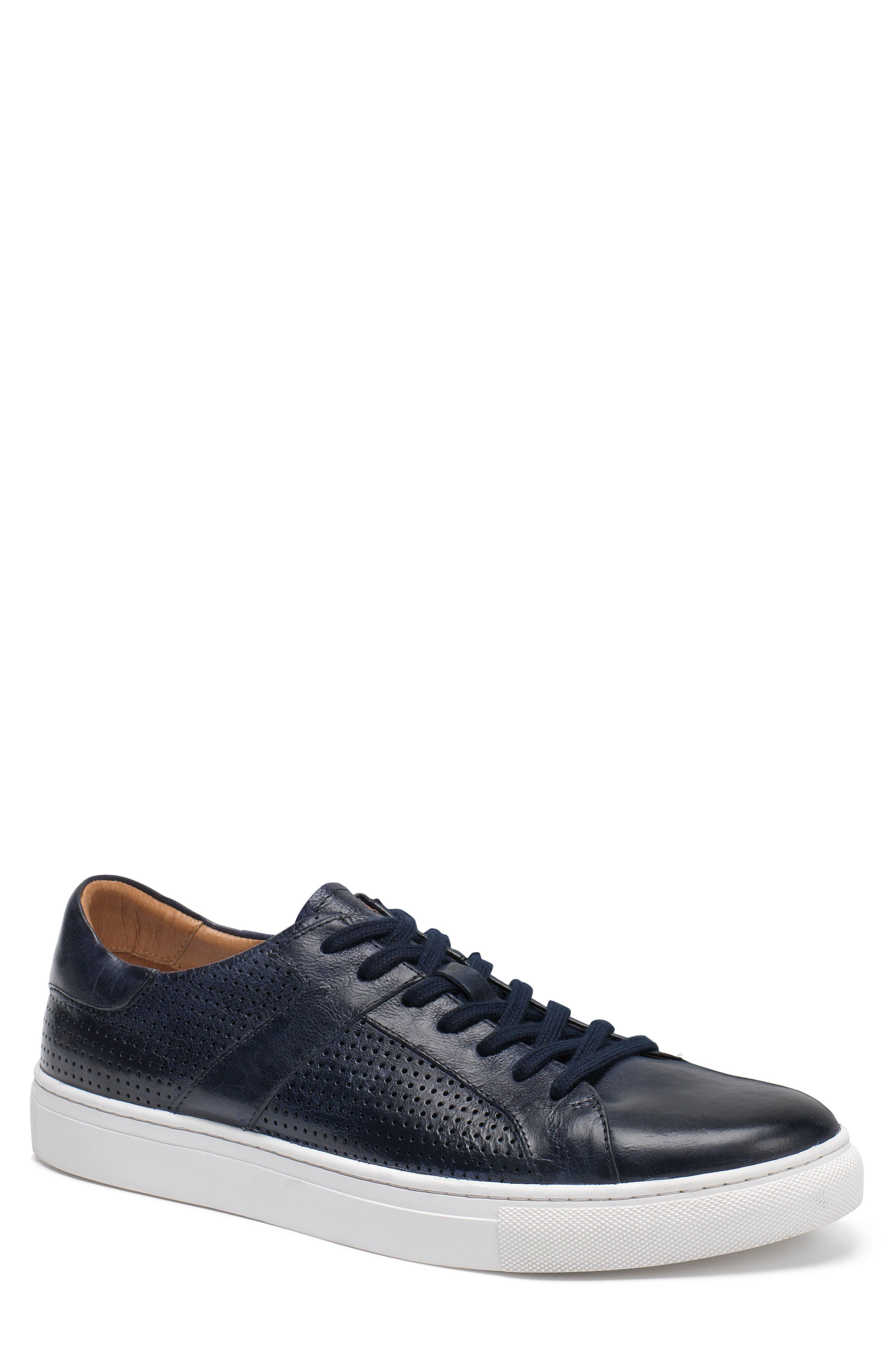 Aaron Sneaker,                         Main,                         color, Navy Leather