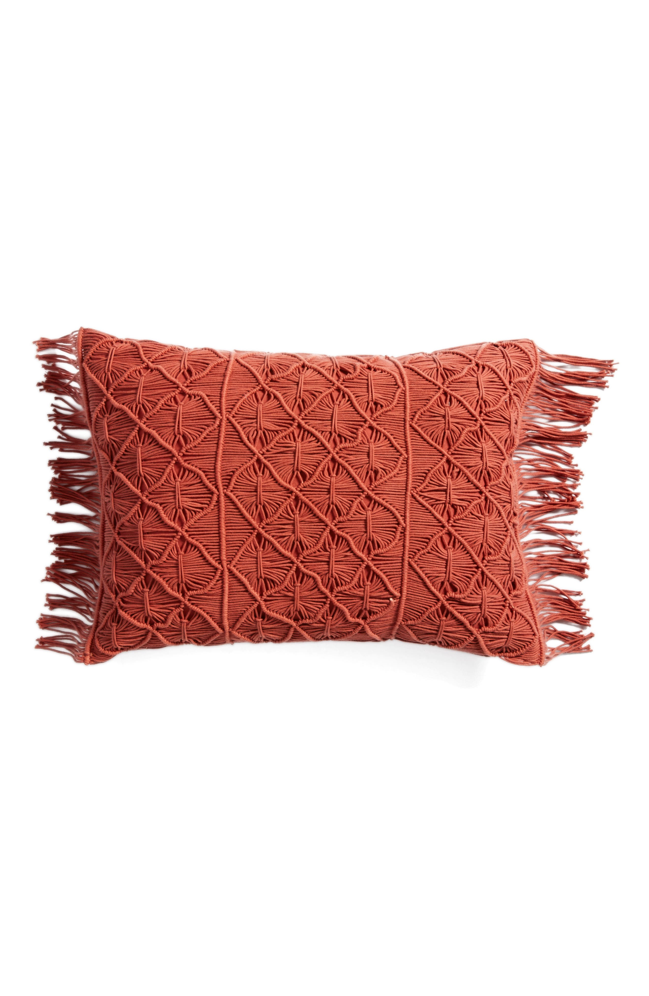 Nordstrom at Home Macramé Accent Pillow