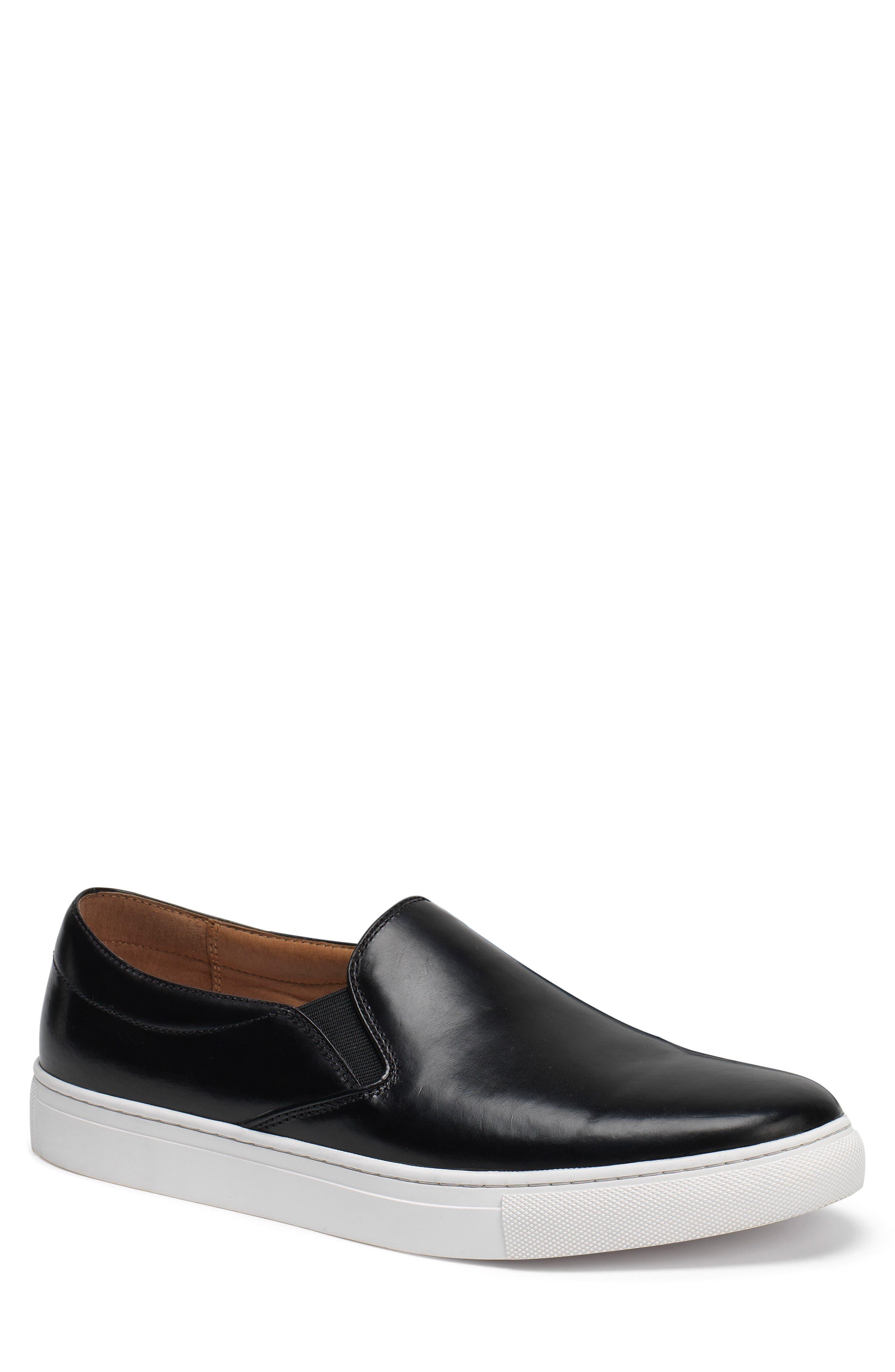 Alex Slip-On Sneaker,                             Main thumbnail 1, color,                             Black Leather
