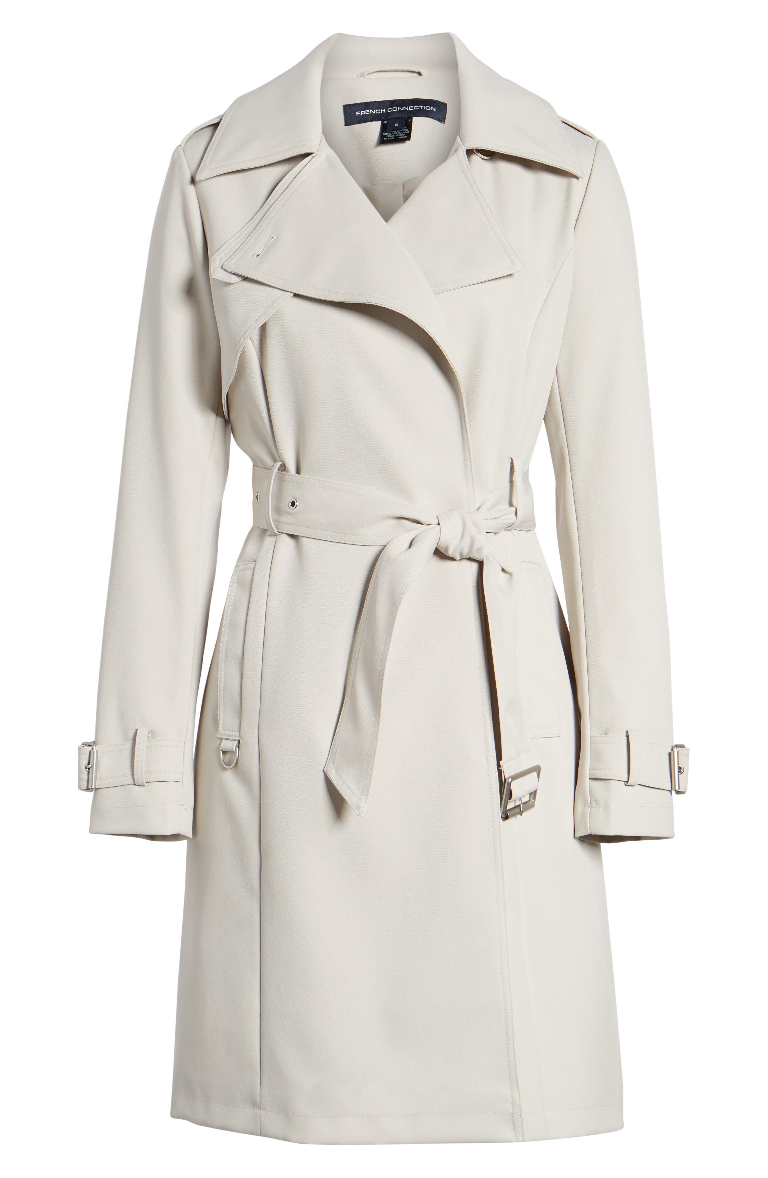Alternate Image 6  - French Connection Flowy Belted Trench Coat