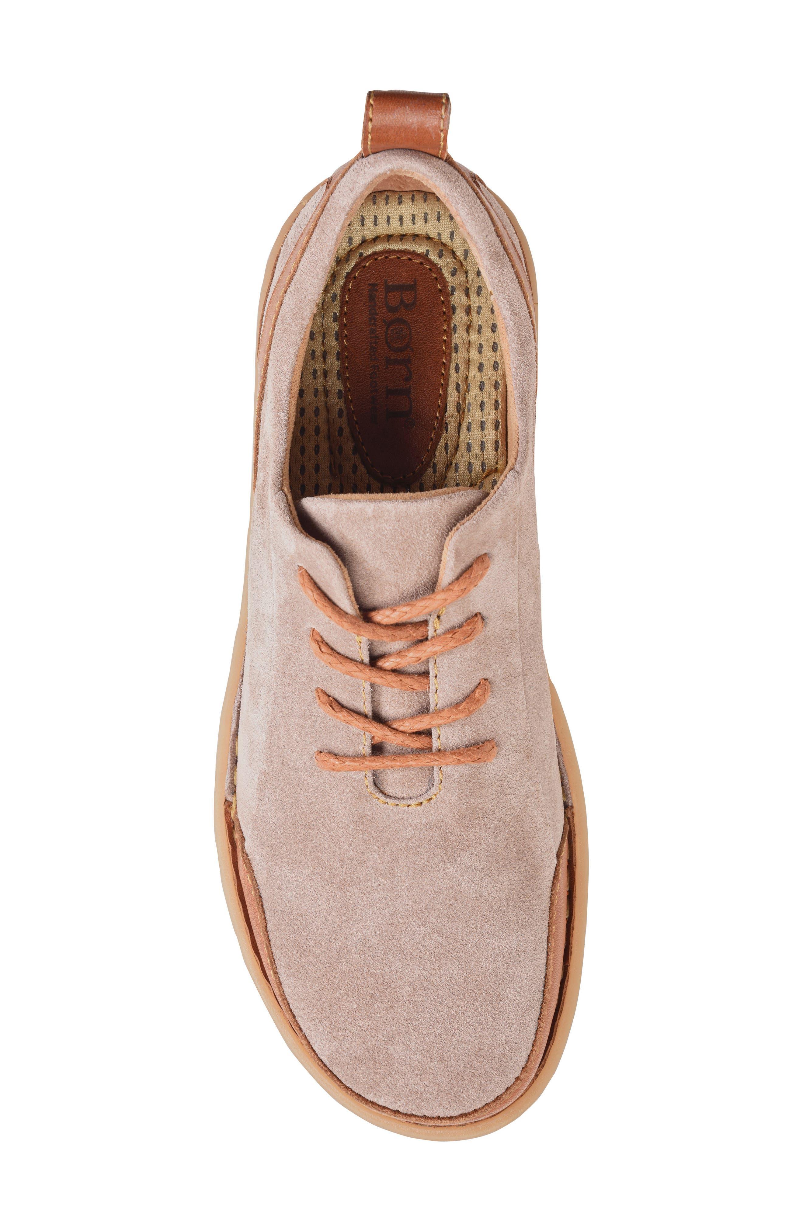 Piper Plain Toe Derby,                             Alternate thumbnail 5, color,                             Grey/ Bronze Leather