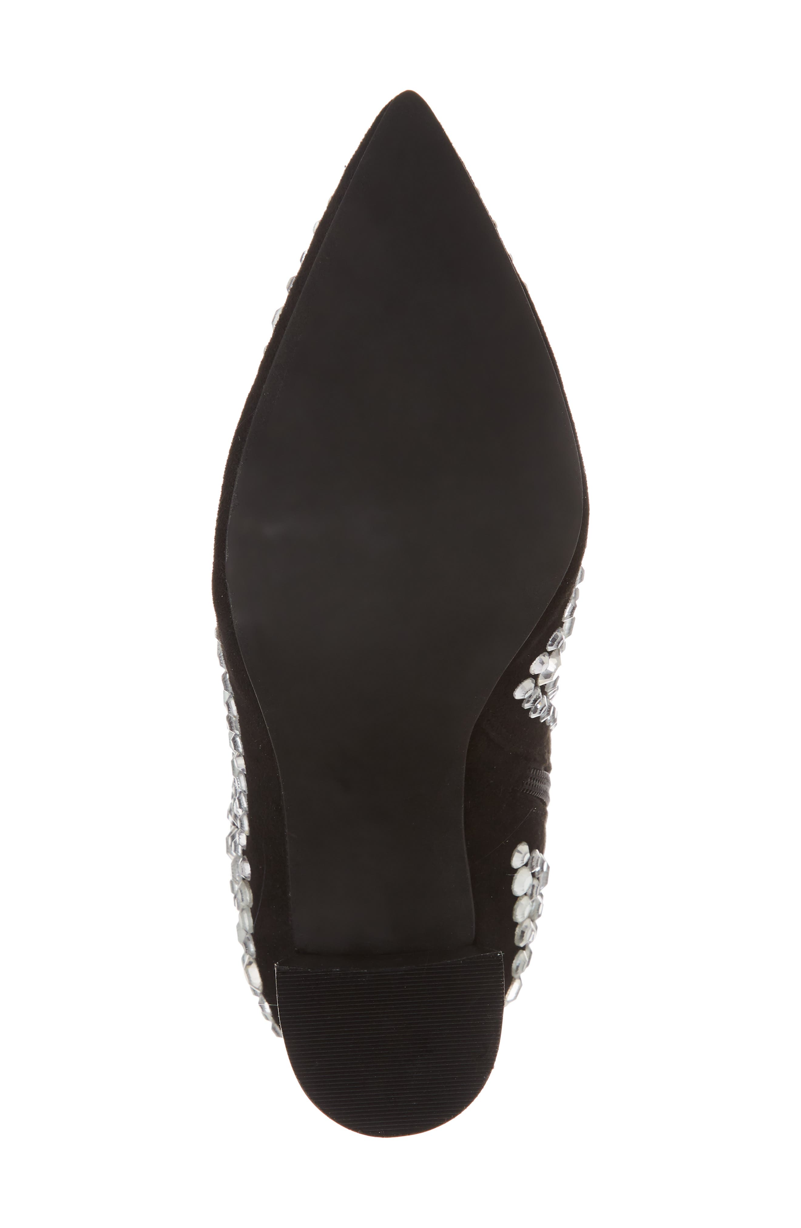 Siren-J Bootie,                             Alternate thumbnail 6, color,                             Black Faux Suede