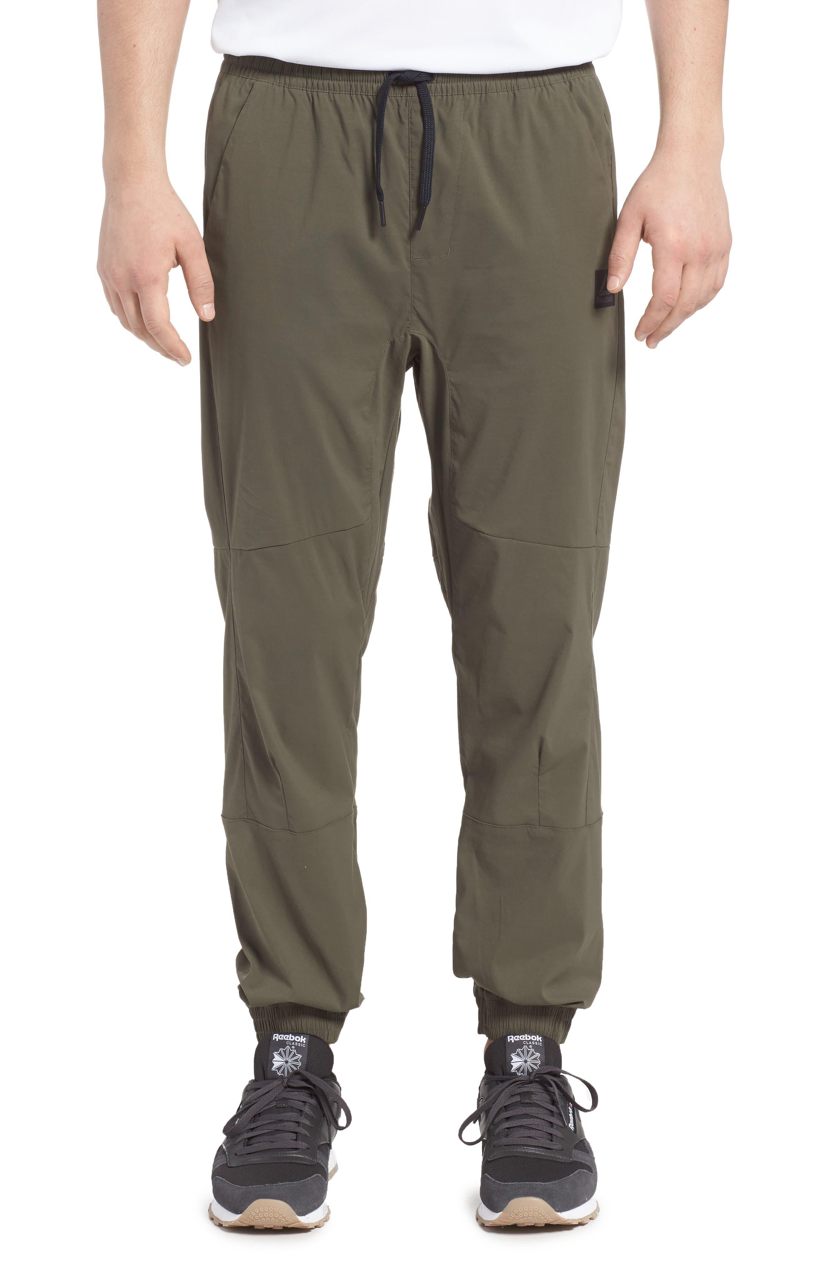 Woven Jogger Pants,                         Main,                         color, Army Green