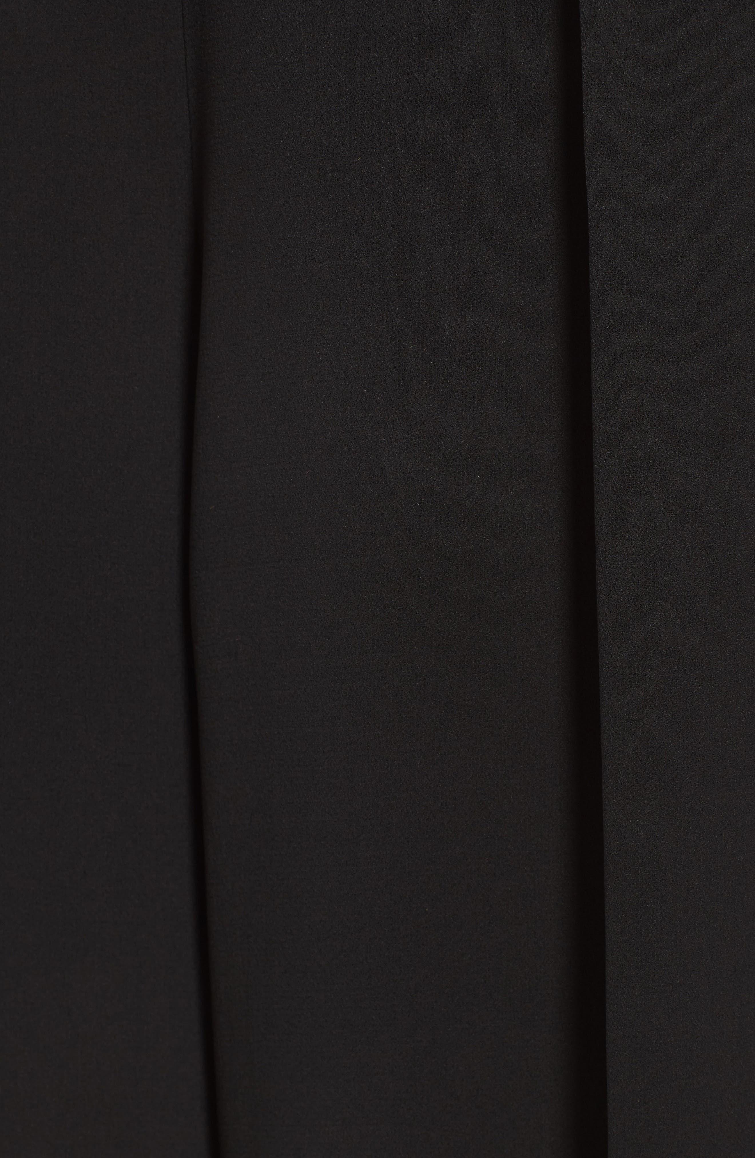 Crop Silk Pants,                             Alternate thumbnail 6, color,                             Black