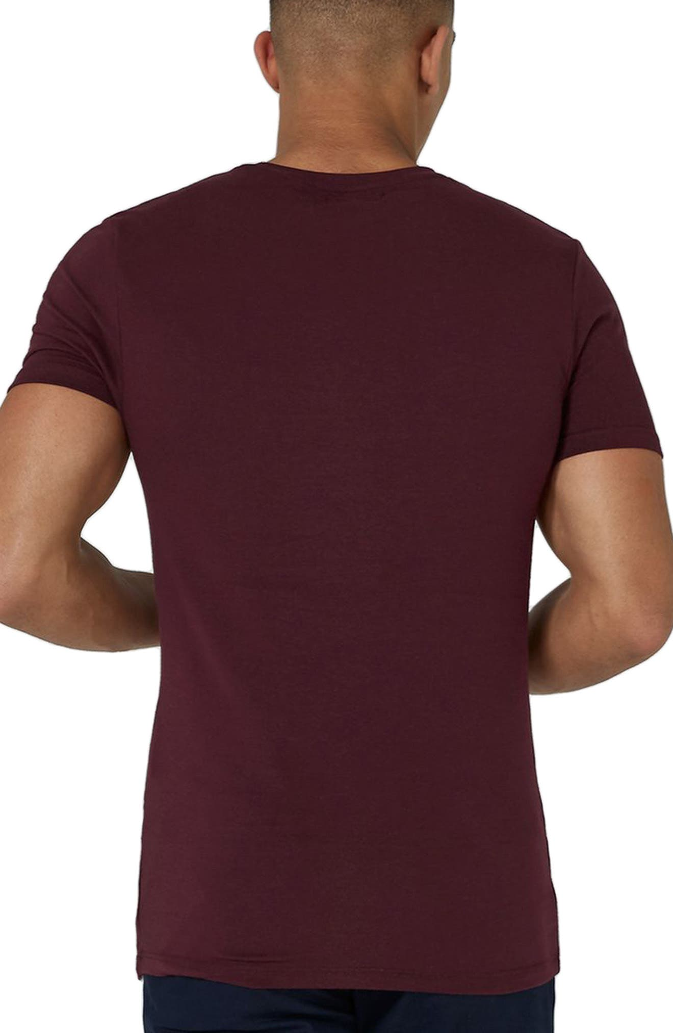 Ultra Muscle Fit T-Shirt,                             Alternate thumbnail 2, color,                             Burgundy