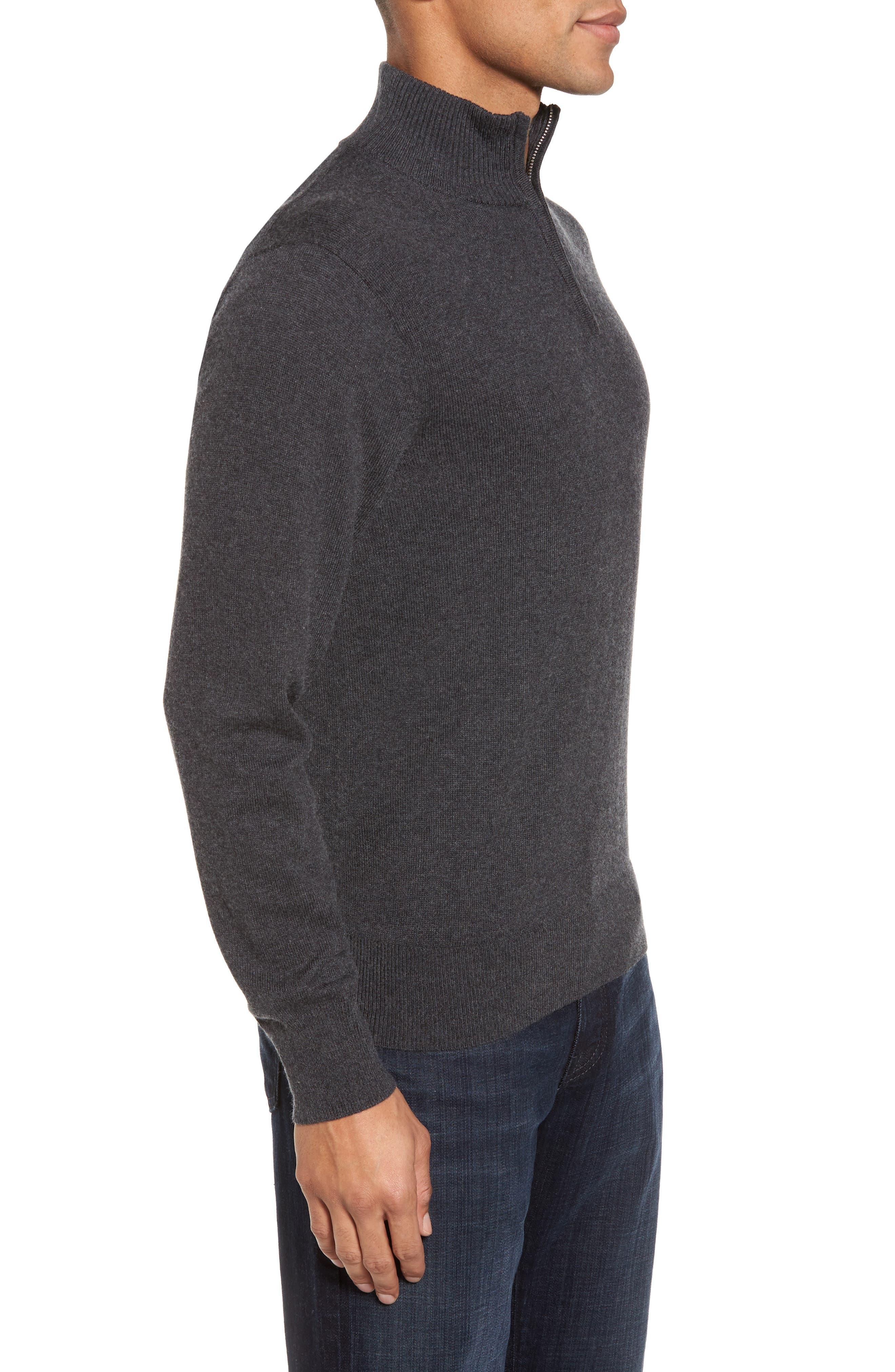 Alternate Image 3  - Bonobos Cotton & Cashmere Quarter Zip Sweater
