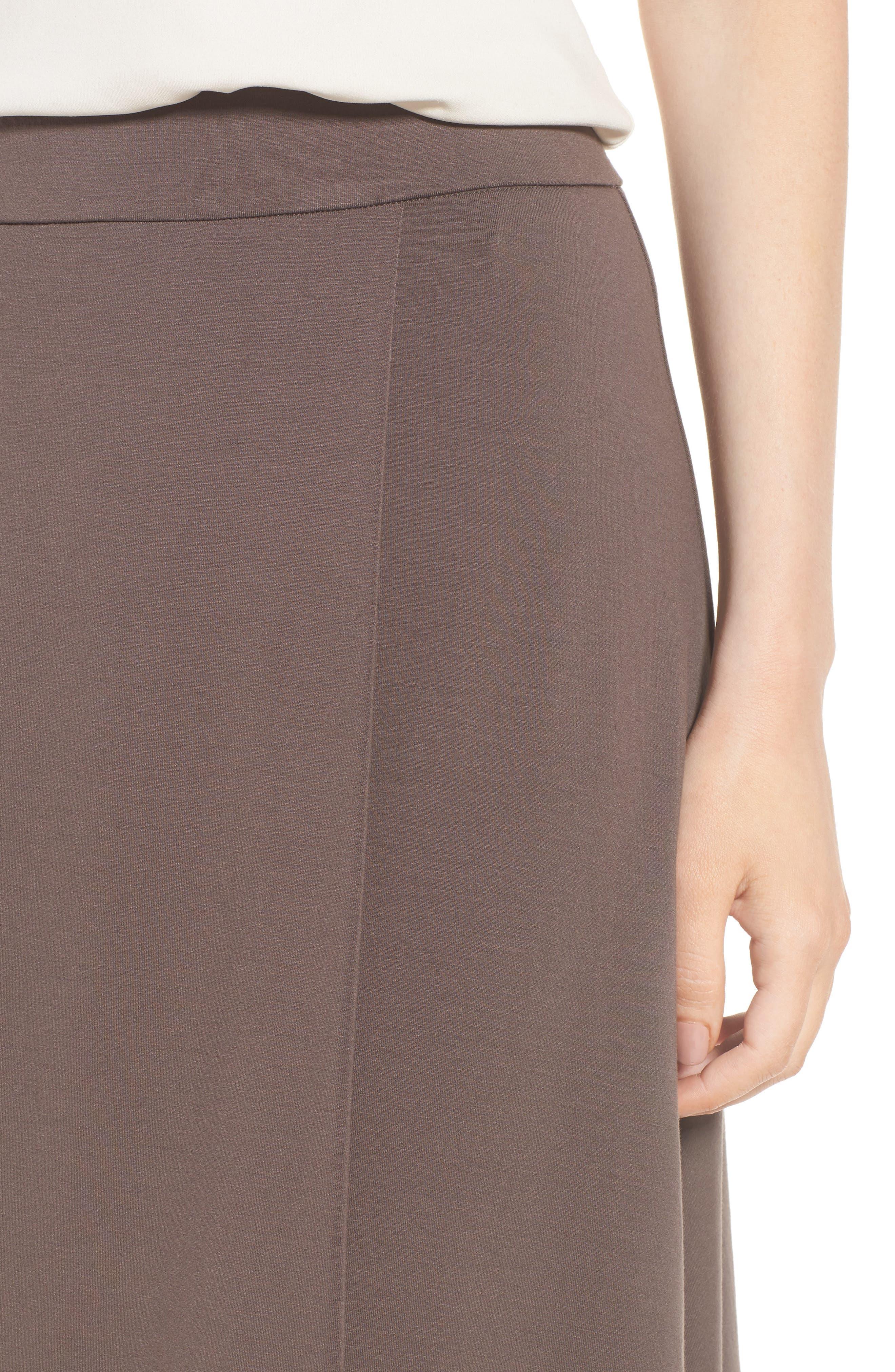 Faux Wrap Jersey Skirt,                             Alternate thumbnail 4, color,                             Rye