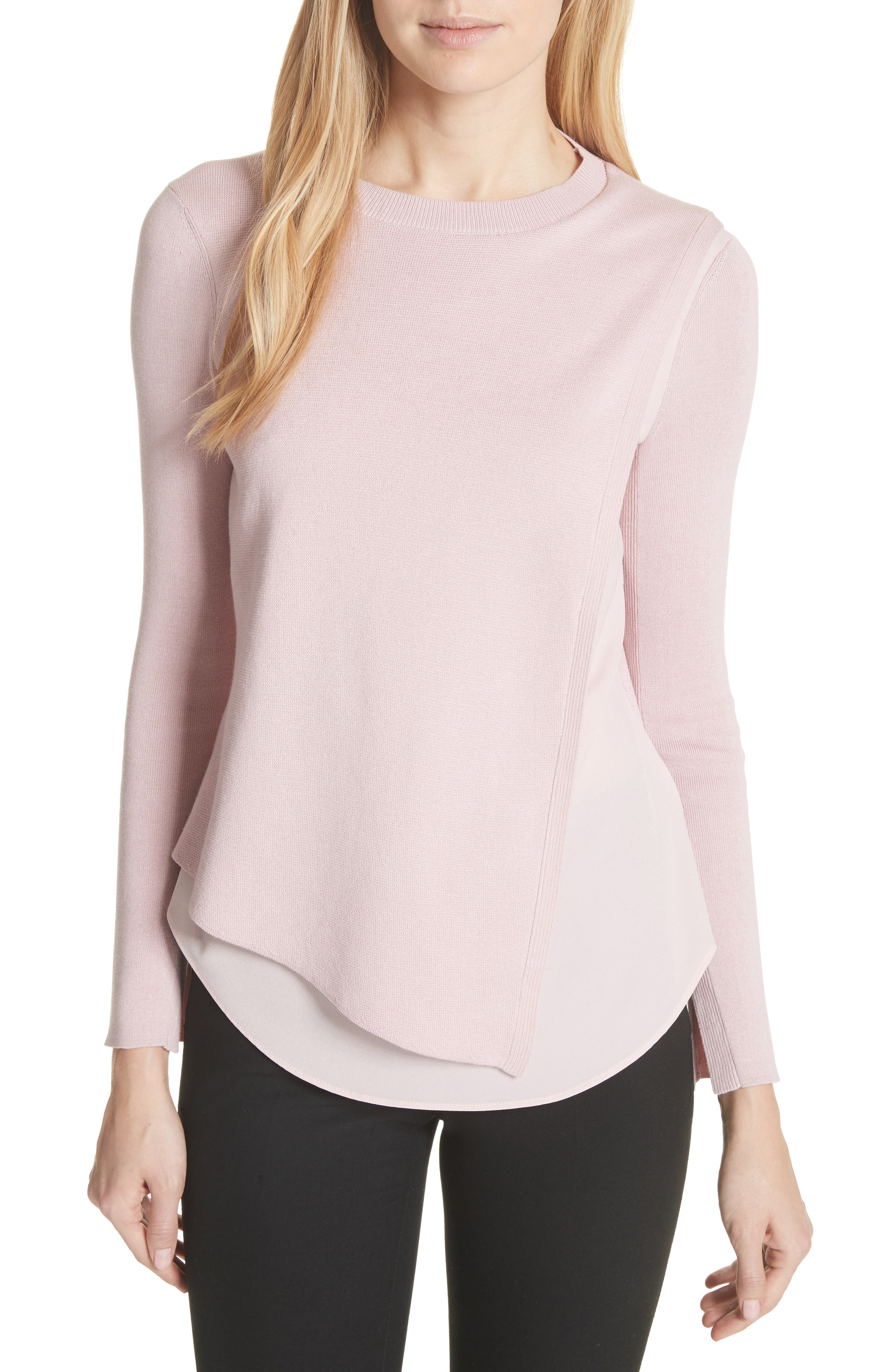 Ted Baker London Knit Overlay Sweater