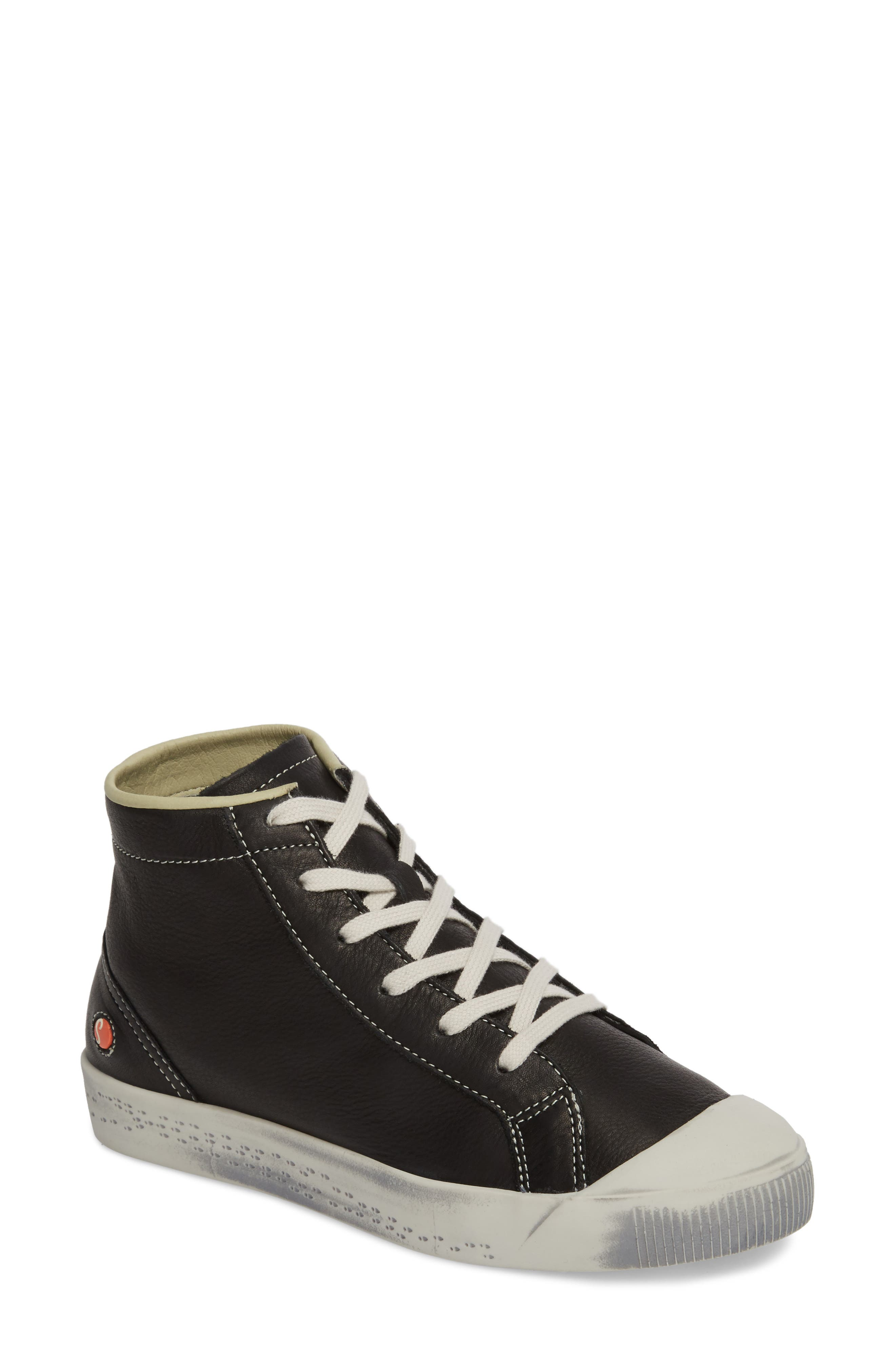 Kip High Top Sneaker,                         Main,                         color, Black Leather
