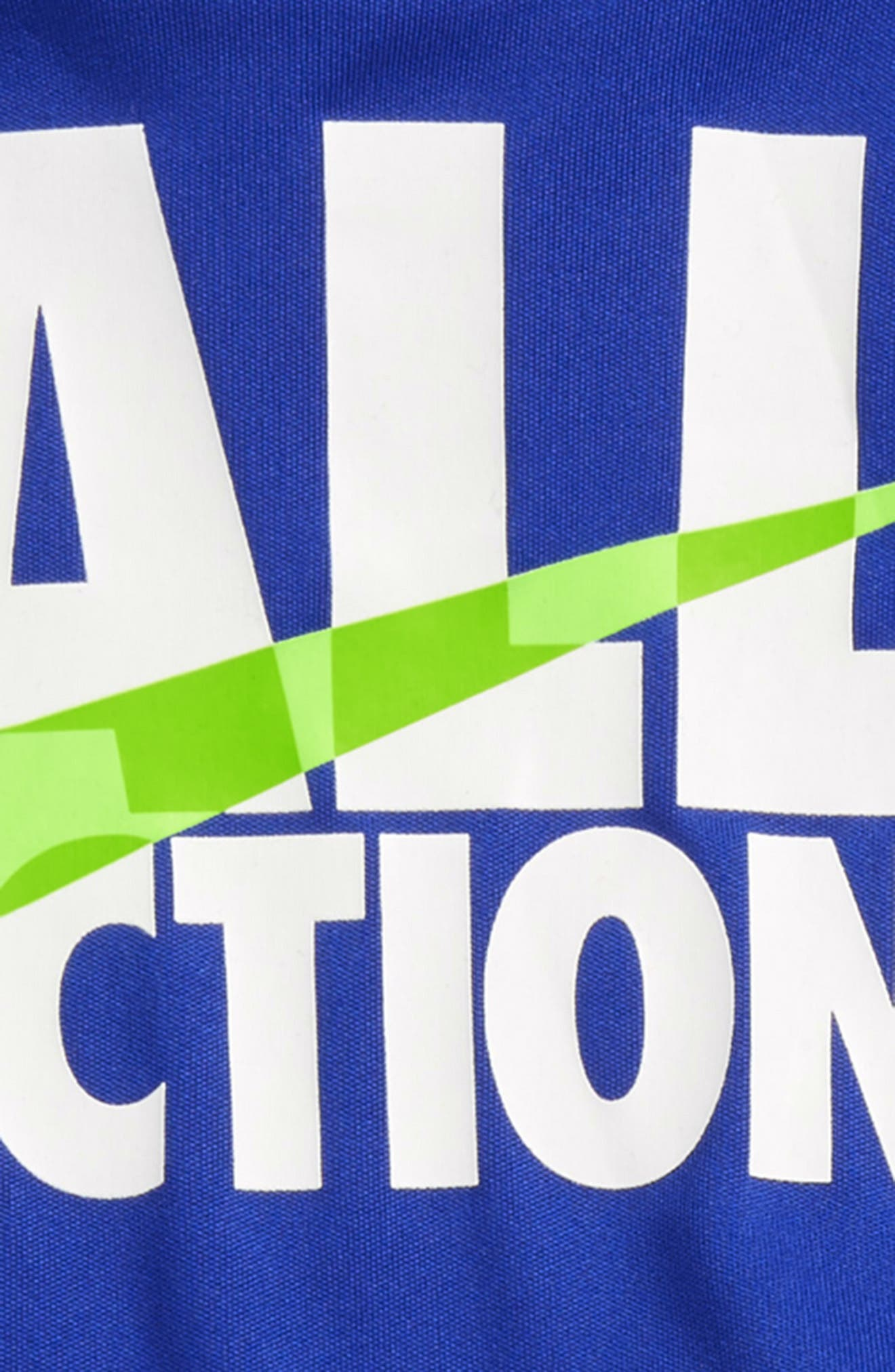 All Action Dry T-Shirt & Shorts Set,                             Alternate thumbnail 2, color,                             Hyper Royal