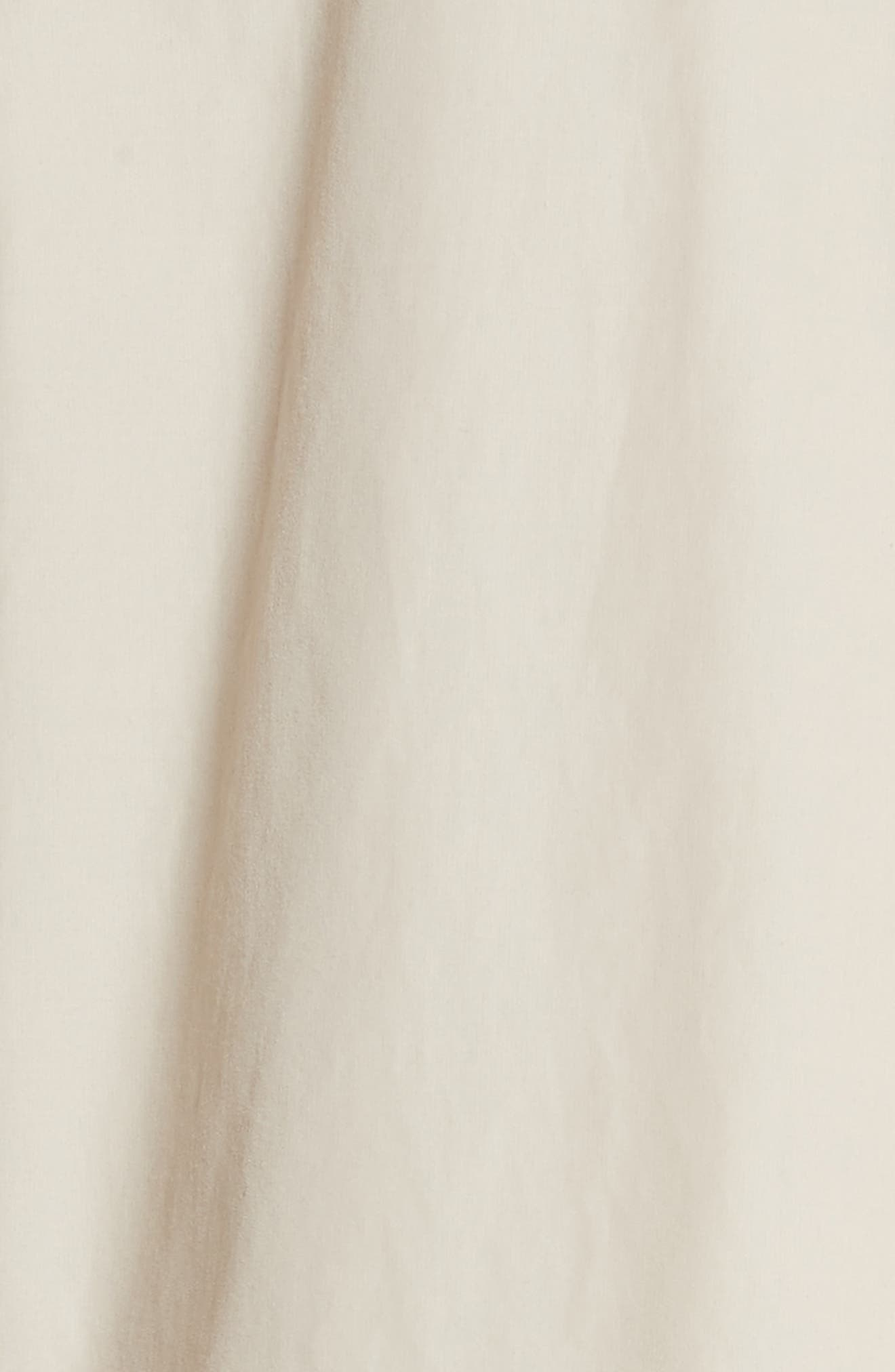 Marielle Leather Trim Trench Coat,                             Alternate thumbnail 5, color,                             Pale Stone