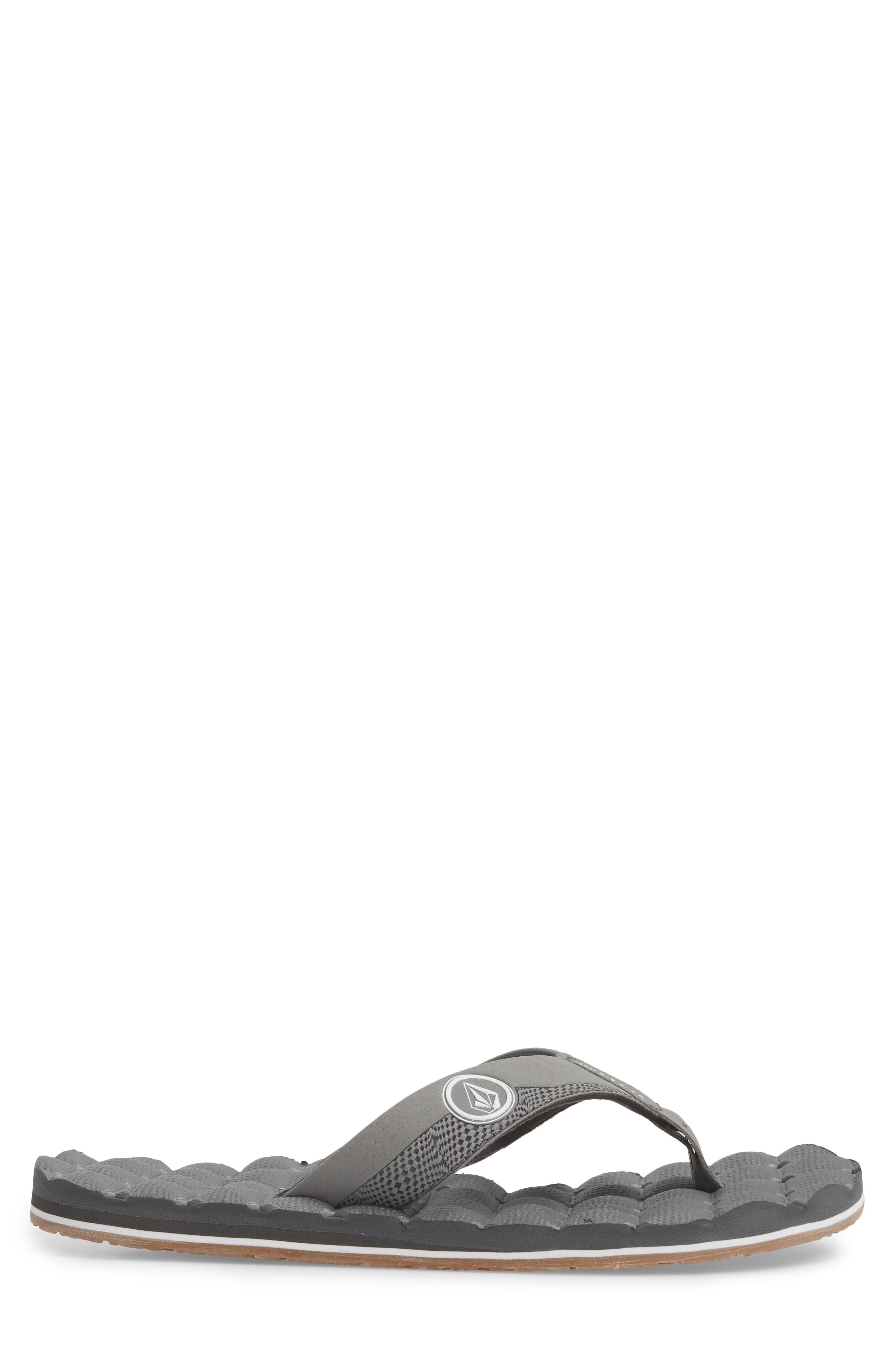 'Recliner' Flip Flop,                             Alternate thumbnail 3, color,                             Light Grey