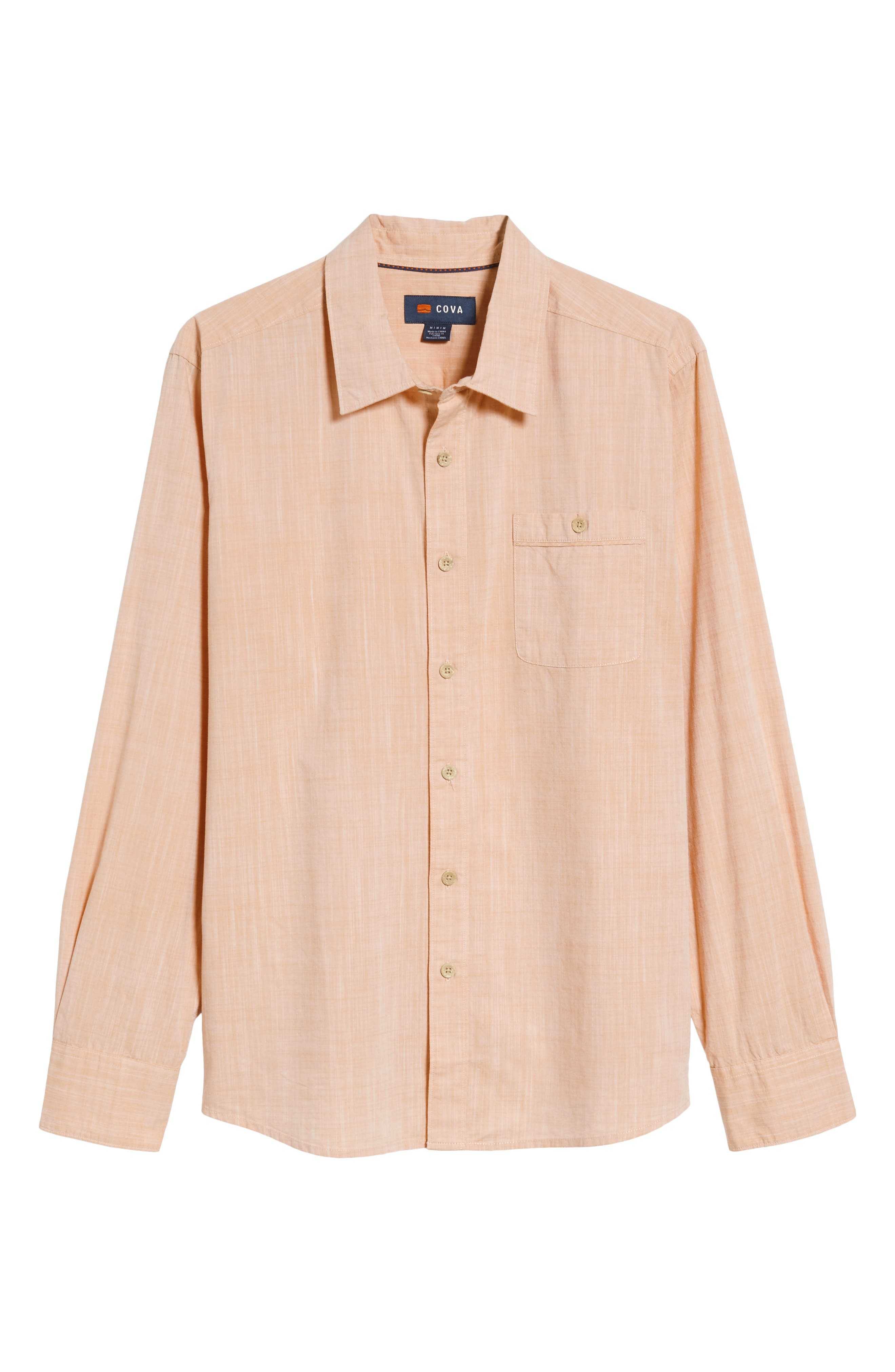 Mai Tai Regular Fit Sport Shirt,                             Alternate thumbnail 6, color,                             Papaya