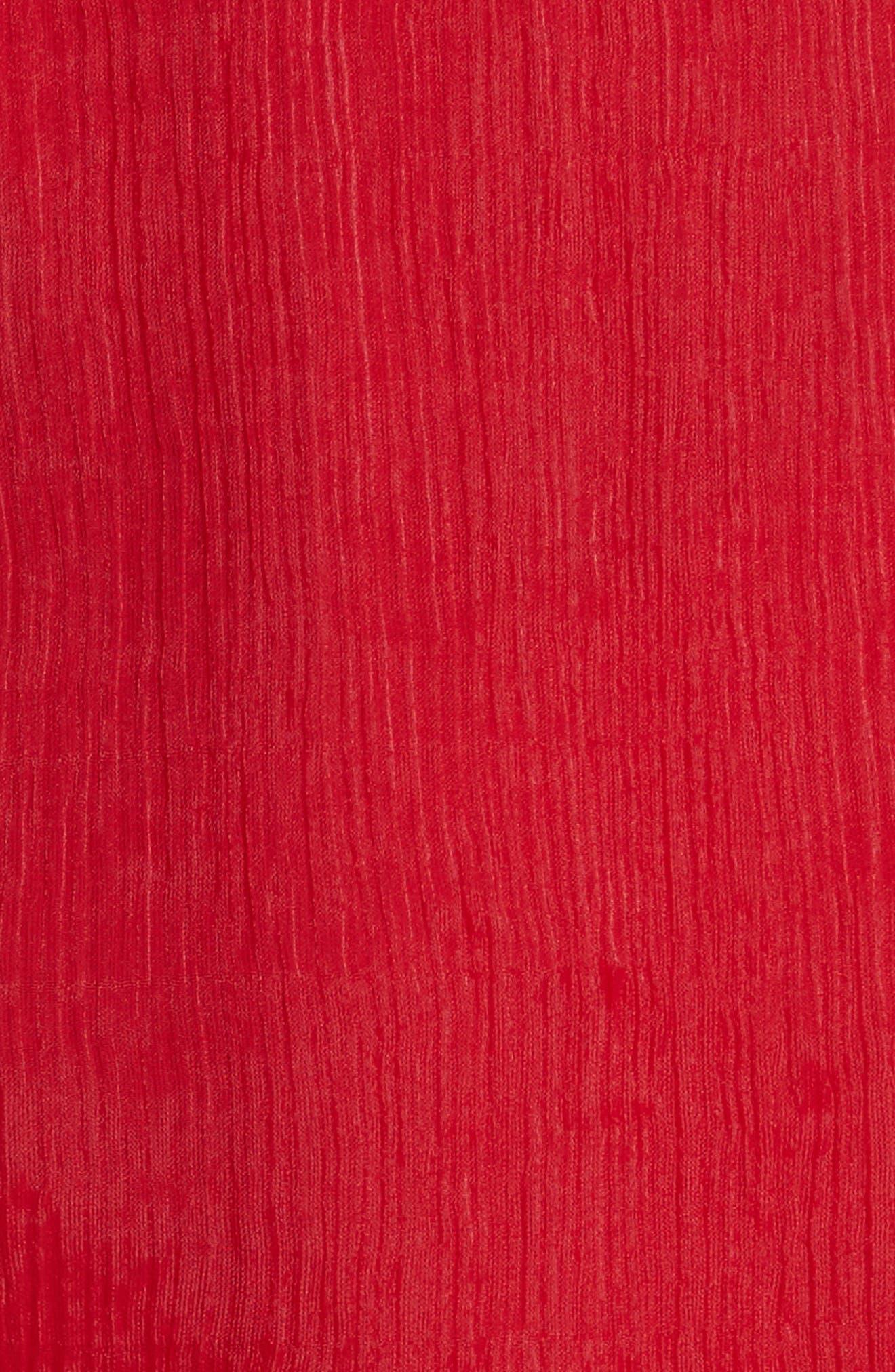 Venus Chiffon Dress,                             Alternate thumbnail 5, color,                             Red