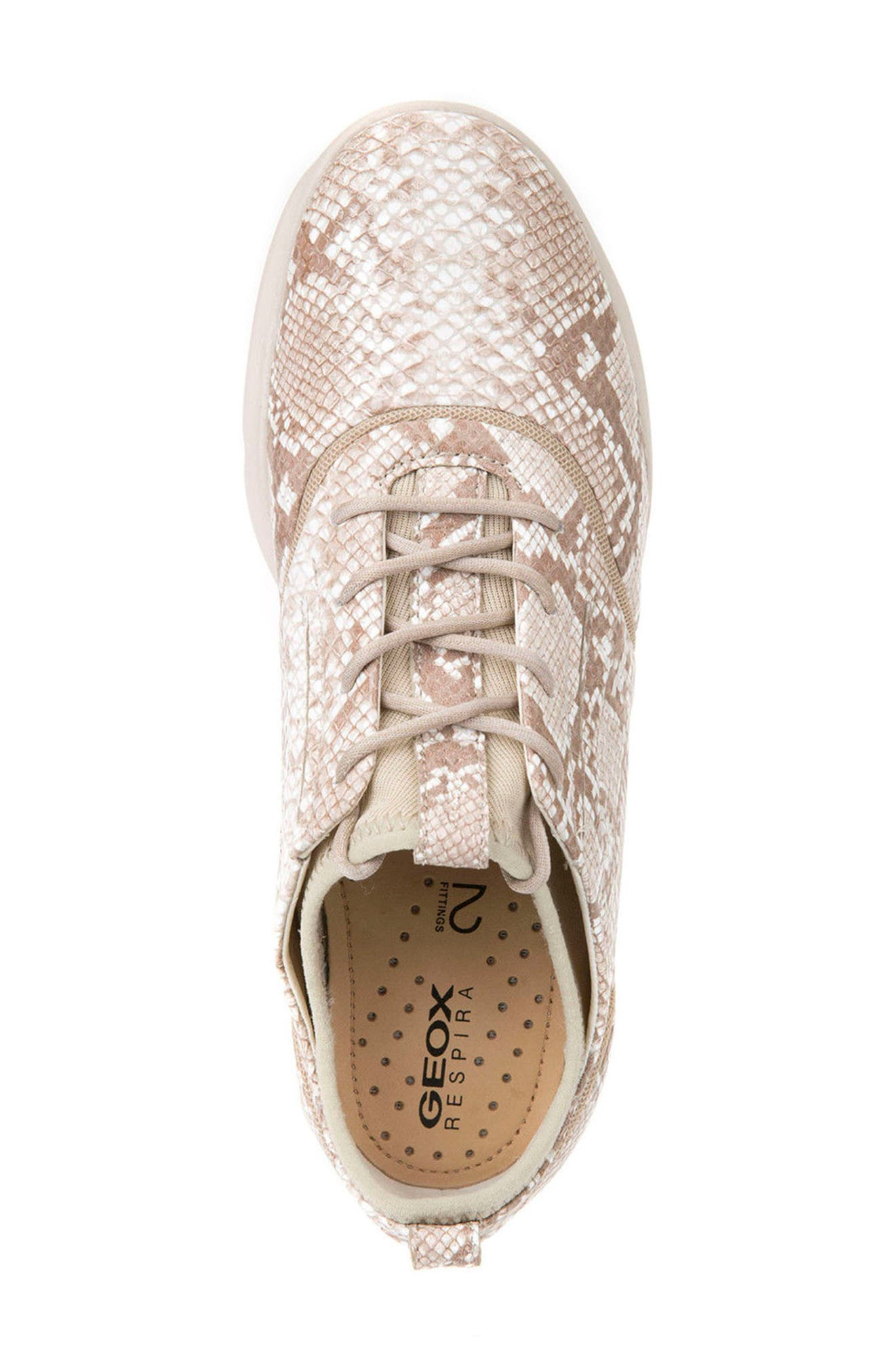 Nebula S 1 Python Embossed Sneaker,                             Alternate thumbnail 3, color,                             Beige Leather