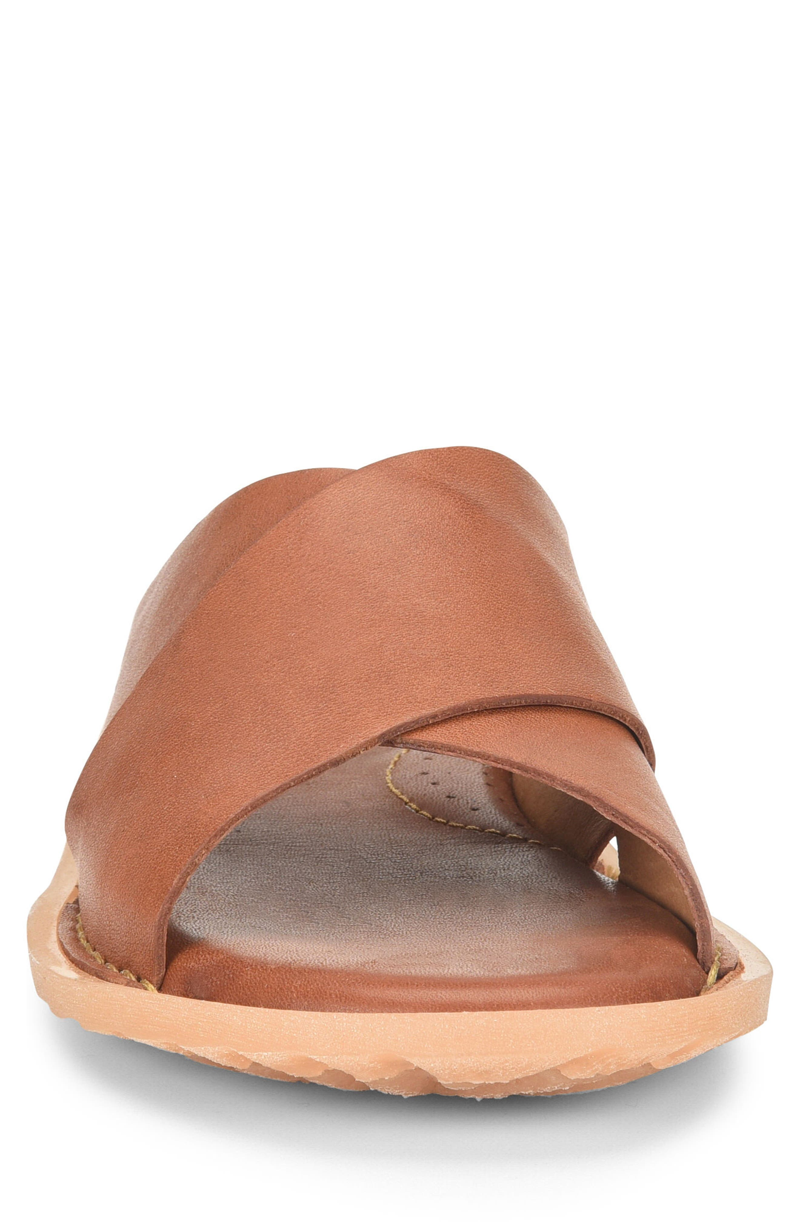 Getaway Slide Sandal,                             Alternate thumbnail 4, color,                             Rust Leather