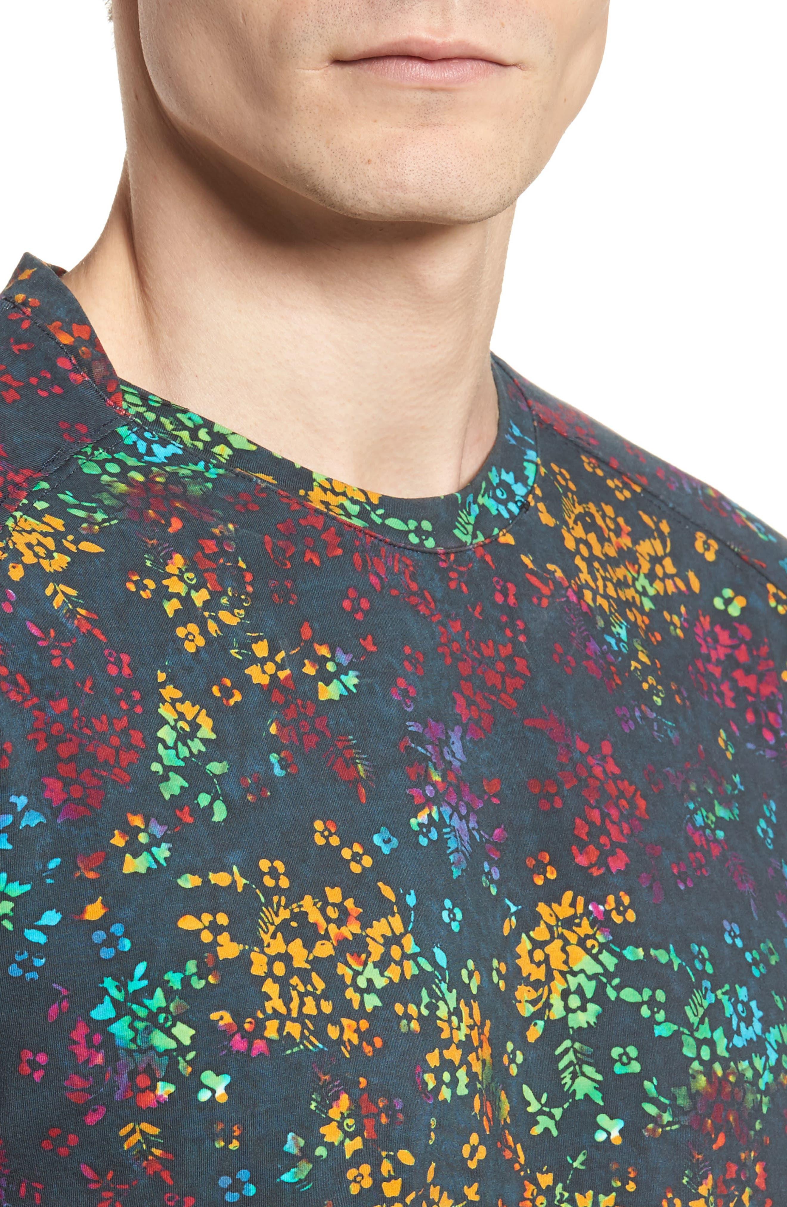 Explorer Print T-Shirt,                             Alternate thumbnail 4, color,                             Navy Multi