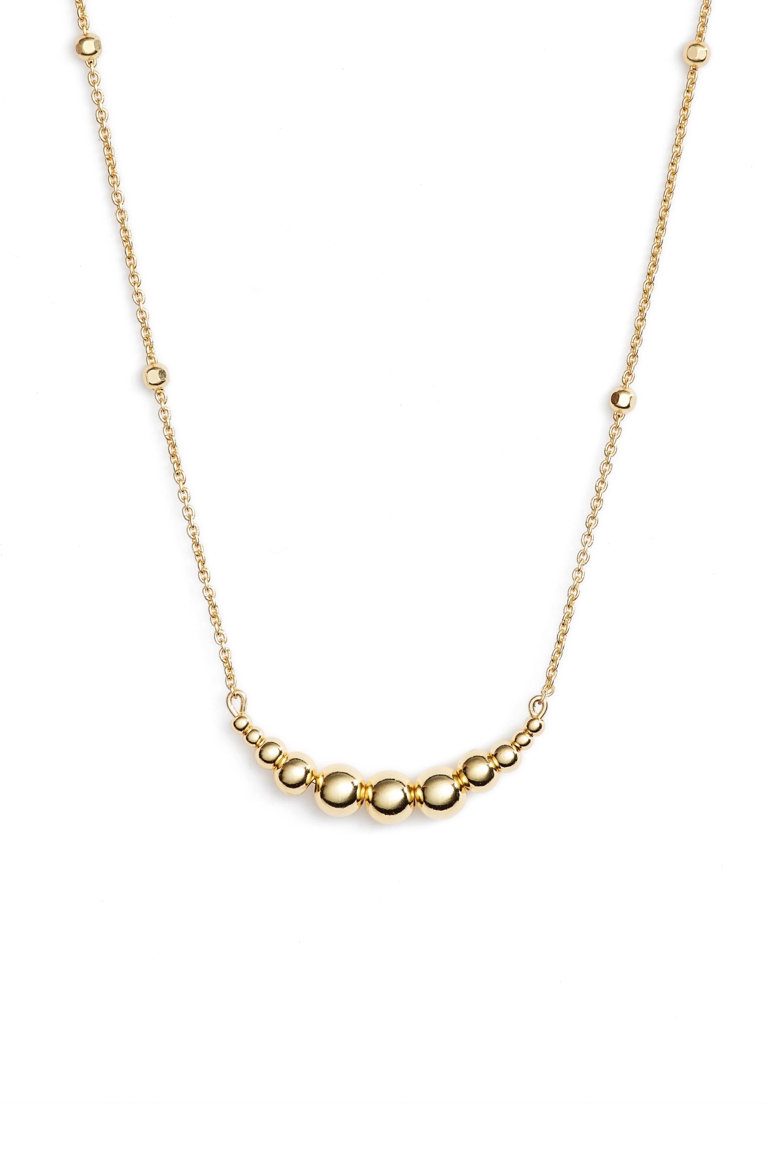 Graduated Sphere Pendant Necklace,                         Main,                         color, Gold