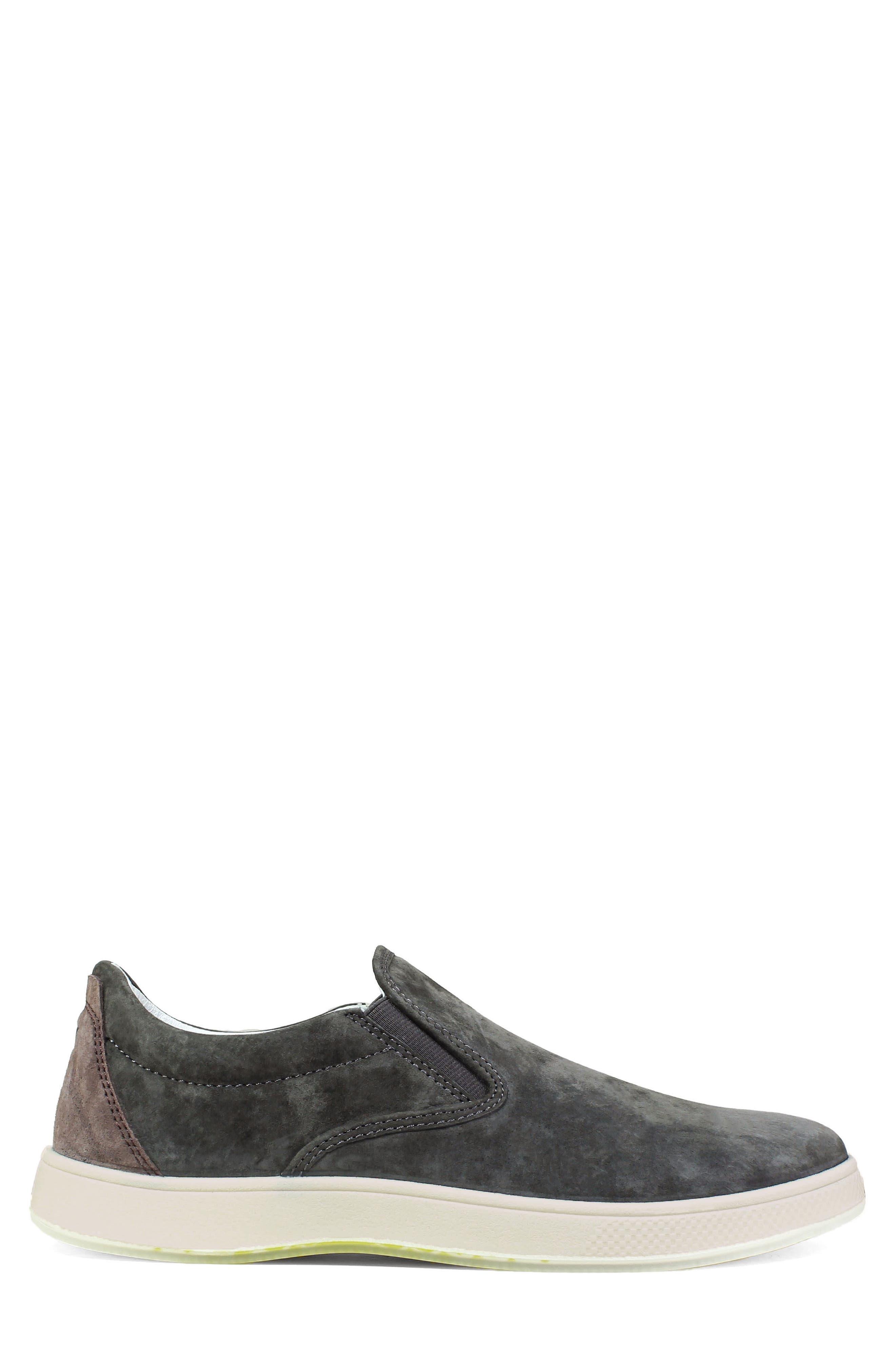 Edge Slip-On Sneaker,                             Alternate thumbnail 3, color,                             Charcoal Nubuck