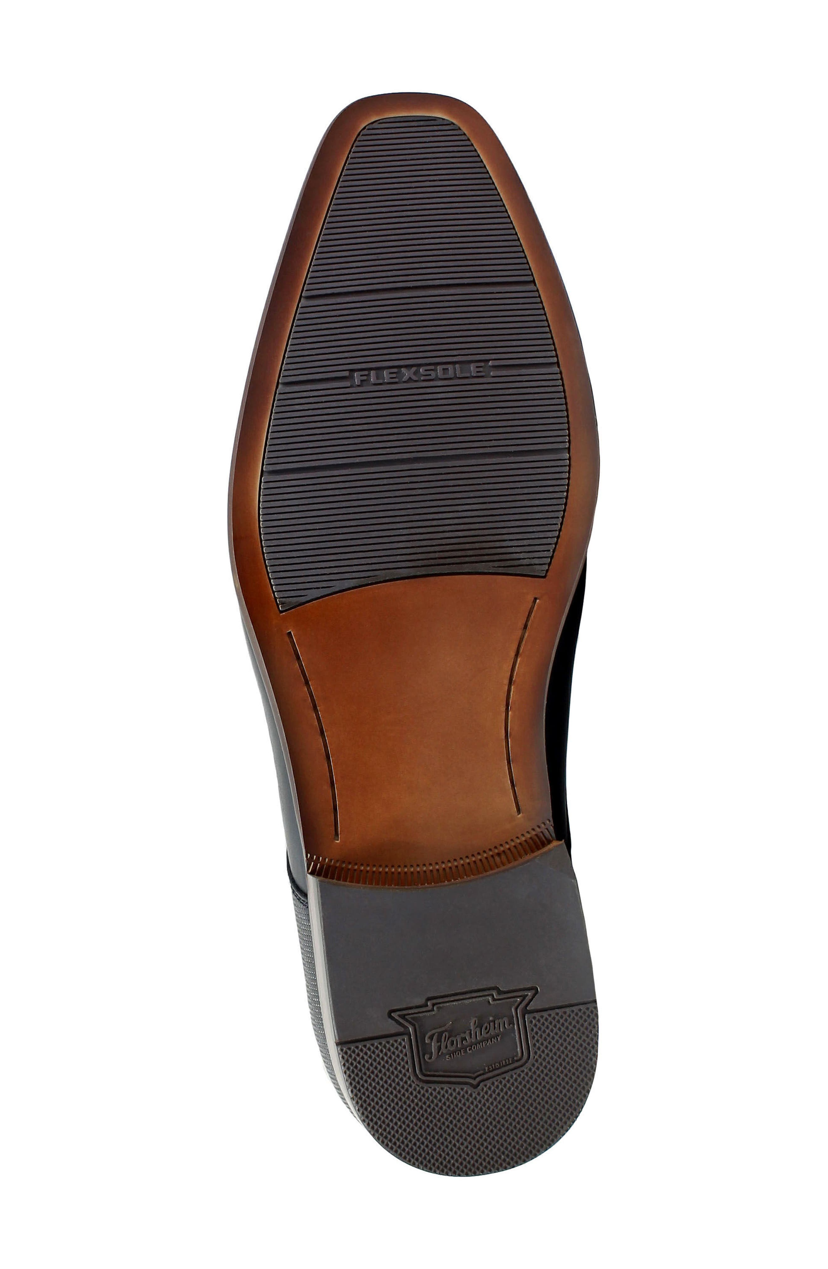 Postino Textured Double Strap Monk Shoe,                             Alternate thumbnail 6, color,                             Cognac Leather