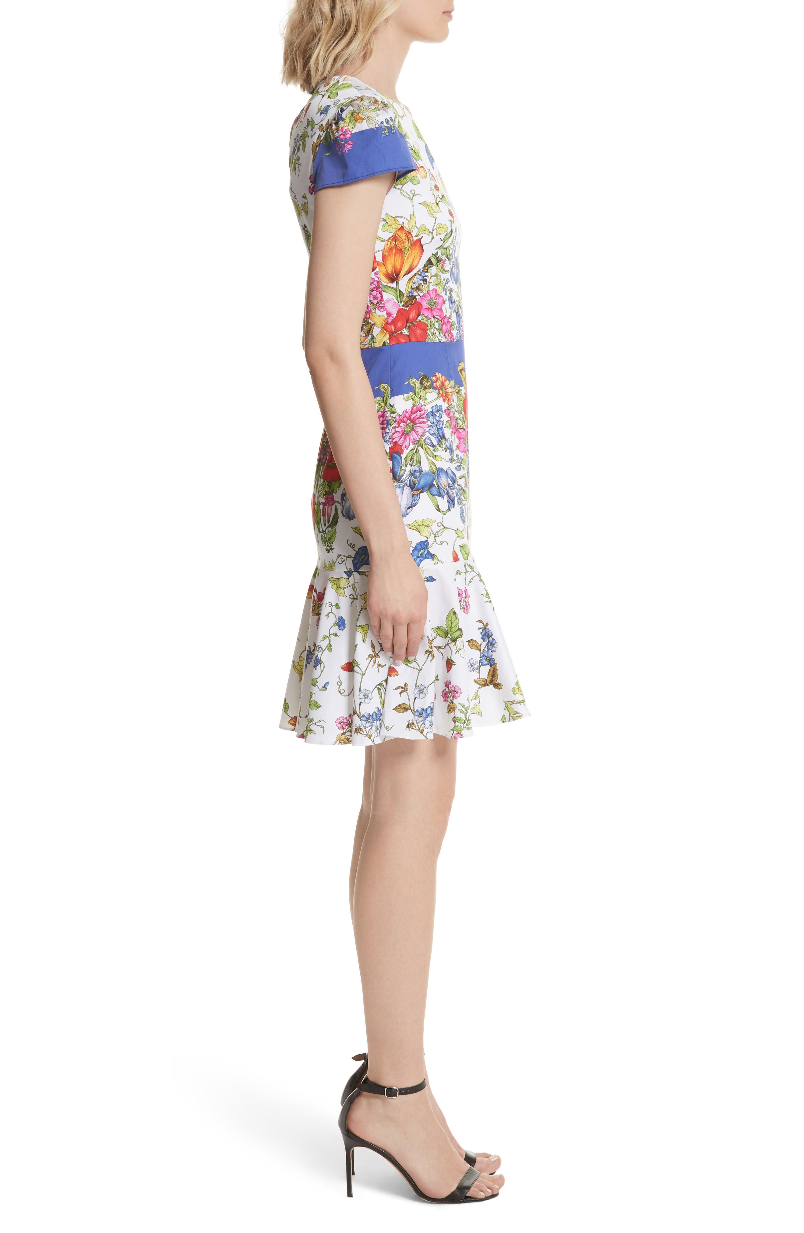 Alternate Image 3  - Milly Karissa Floral Stretch Cotton Dress