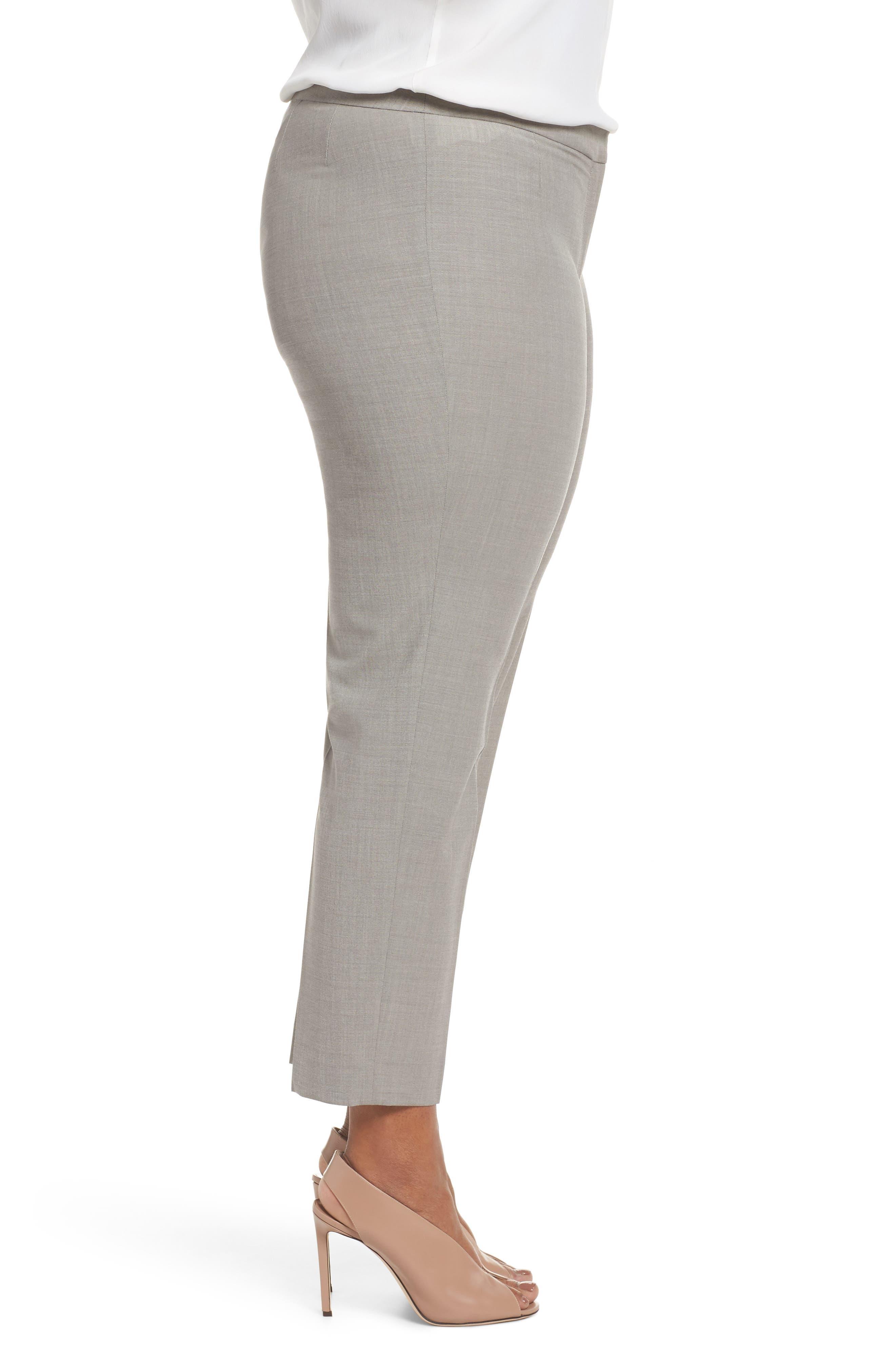 Bleecker Stretch Wool Suit Pants,                             Alternate thumbnail 3, color,                             Feather Grey Melange