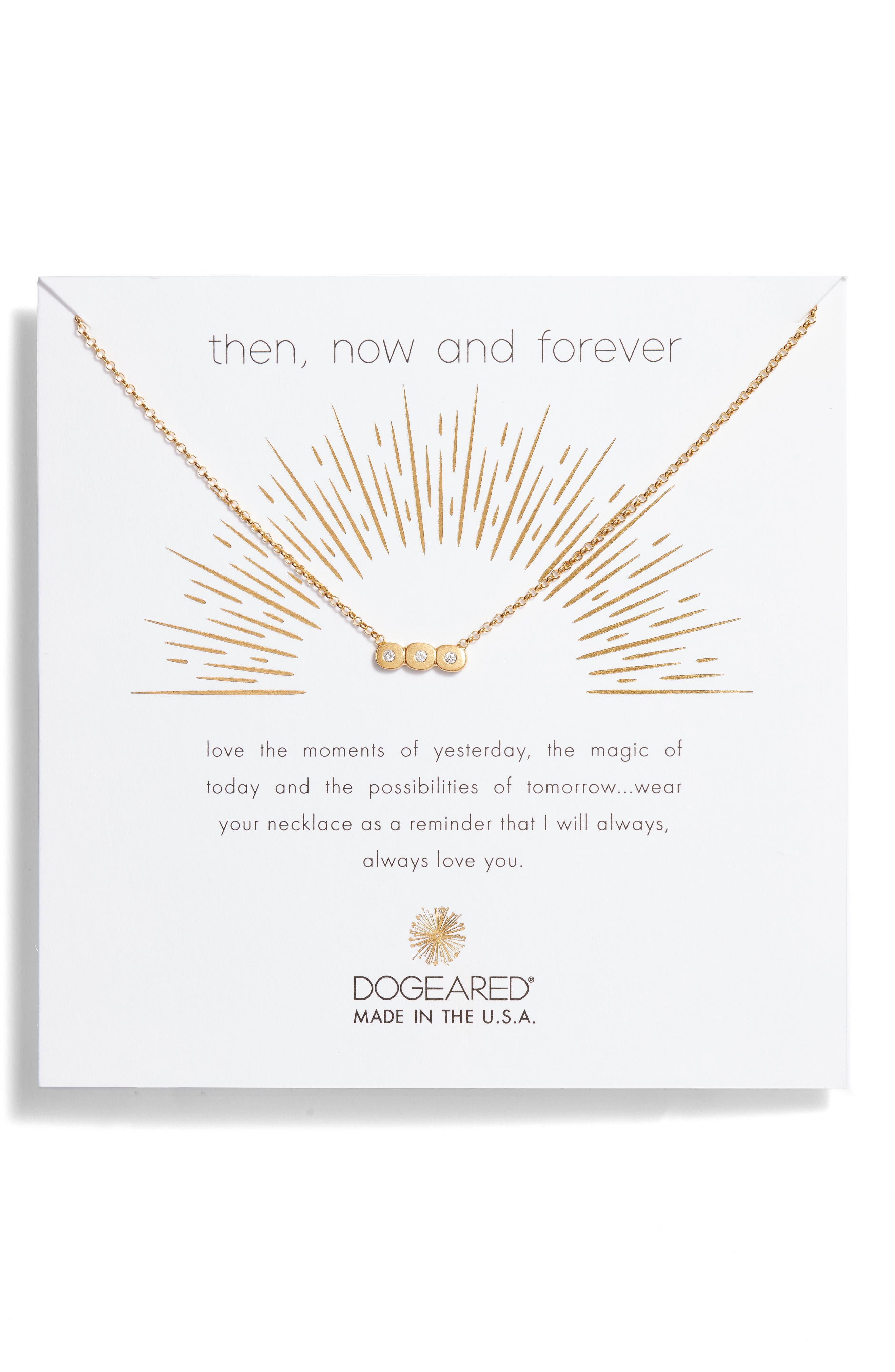 Then Now & Forever Pendant Necklace,                         Main,                         color, Gold