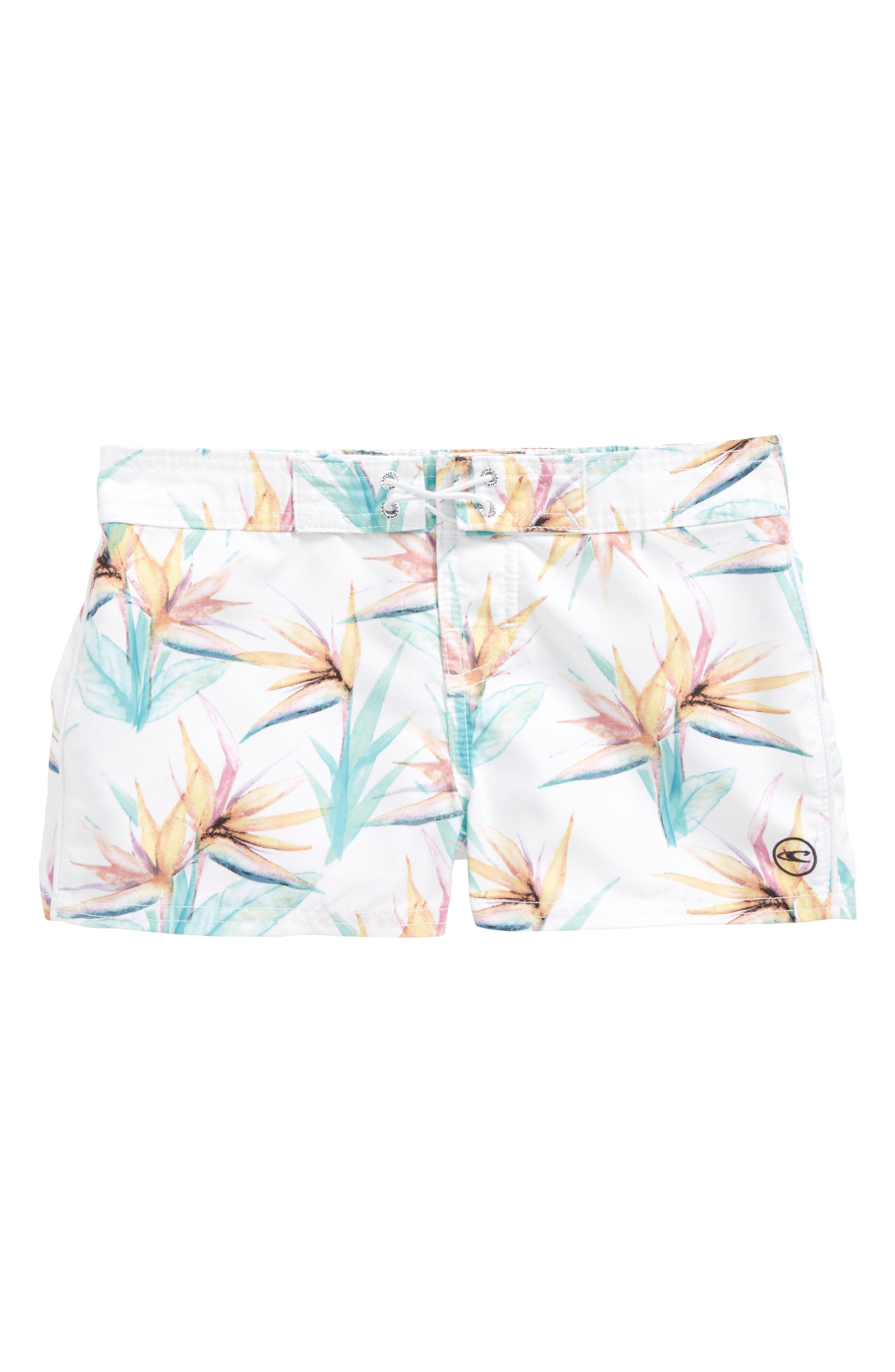 Breeze Board Shorts,                         Main,                         color, White - Wht