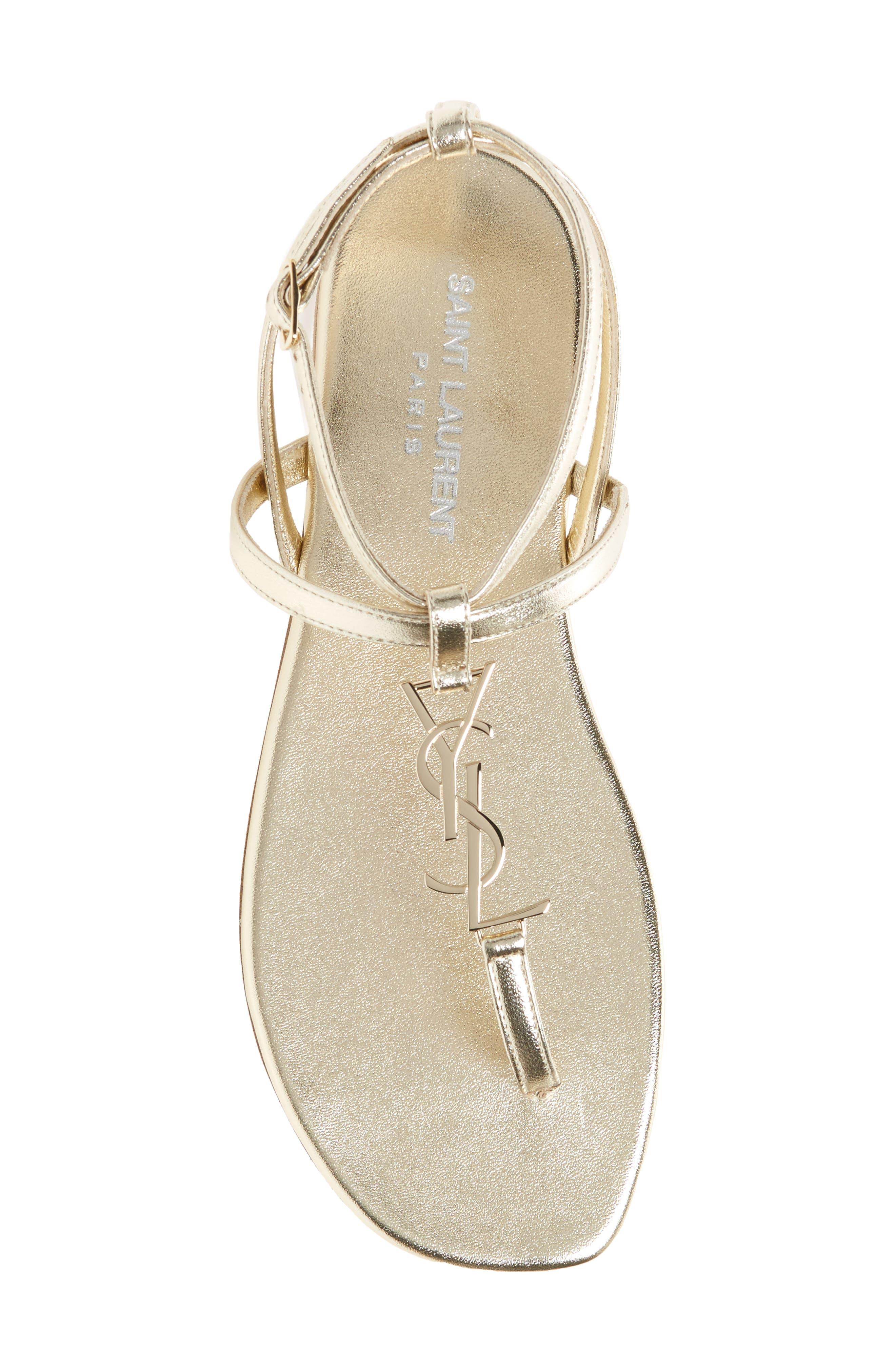 Alternate Image 5  - Saint Laurent Nu Pied T-Strap Sandal (Women)