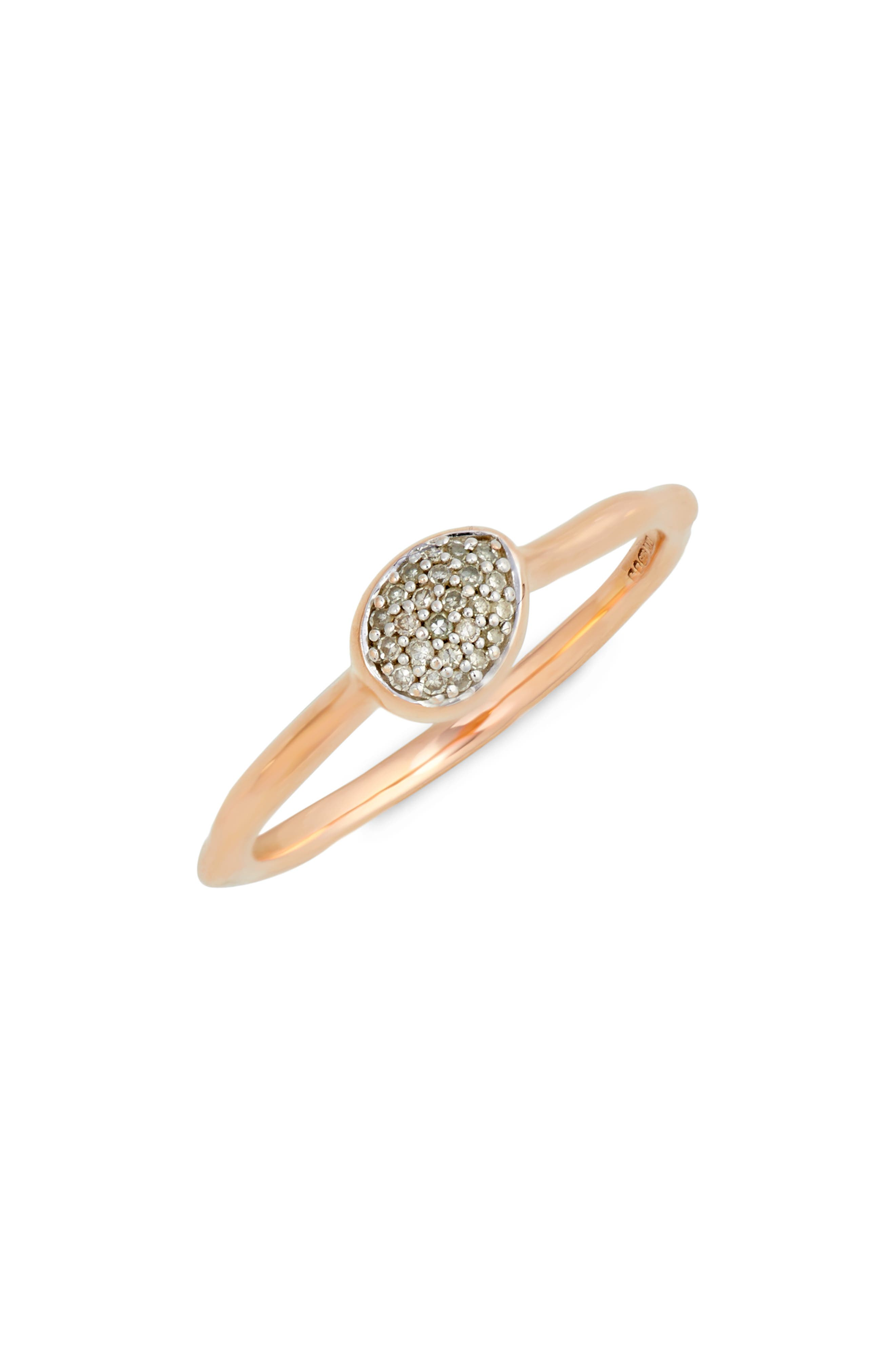Alternate Image 1 Selected - Monica Vinader Siren Small Pavé Diamond Stacking Ring
