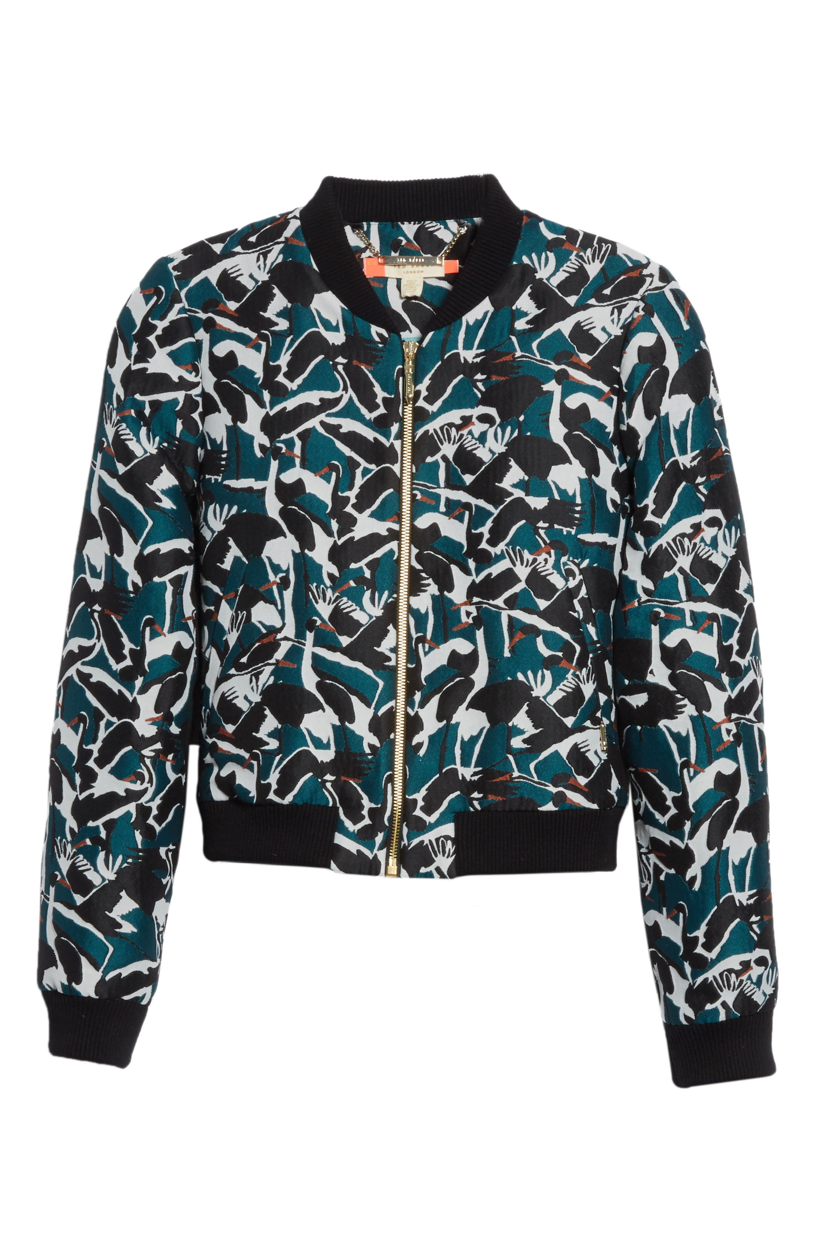 Colour by London Joeshi Bomber Jacket,                             Alternate thumbnail 6, color,                             Teal