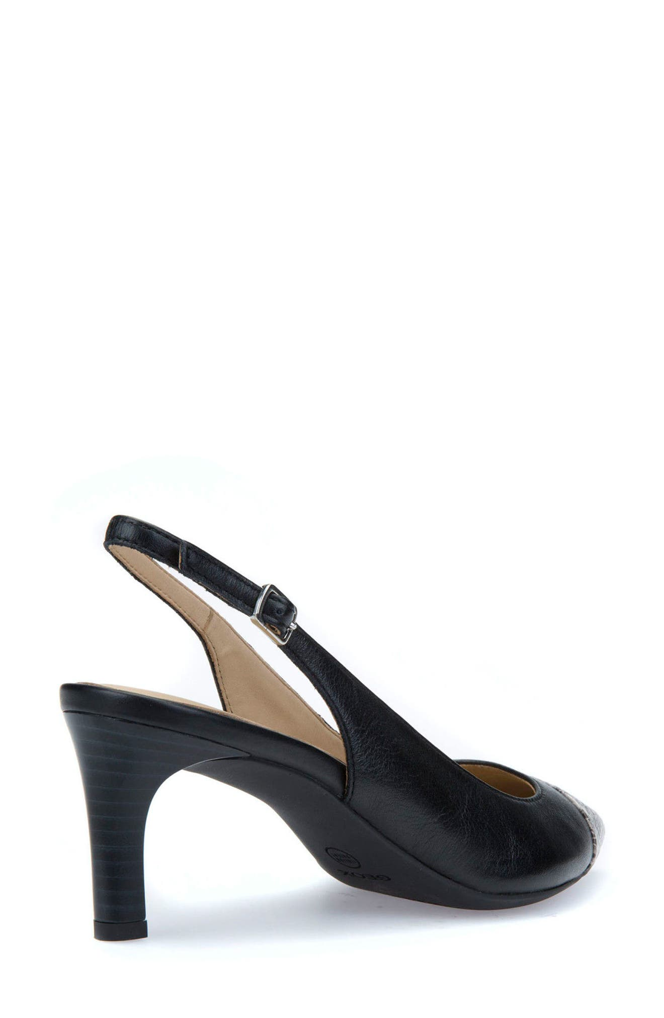 Bibbiana Slingback Pump,                             Alternate thumbnail 2, color,                             Black Leather