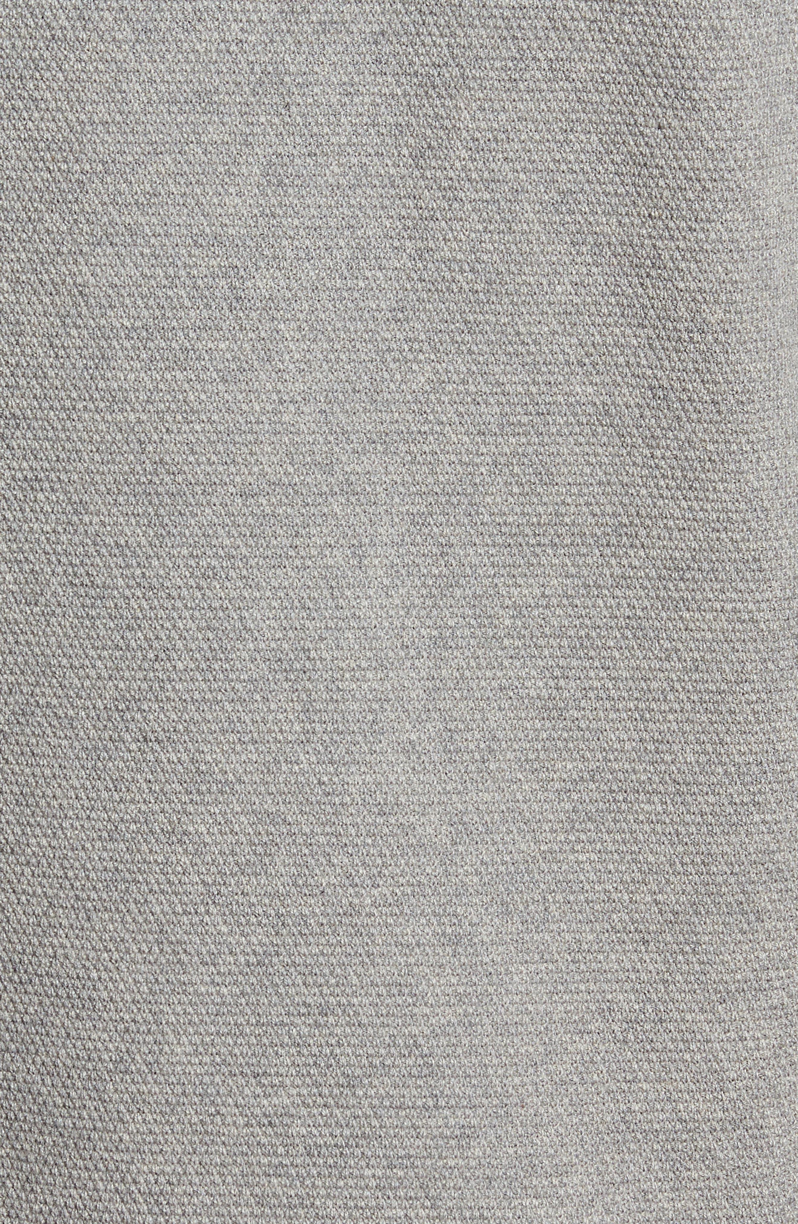 Crewneck Cotton & Cashmere Sweater,                             Alternate thumbnail 5, color,                             Grey Medium Heather