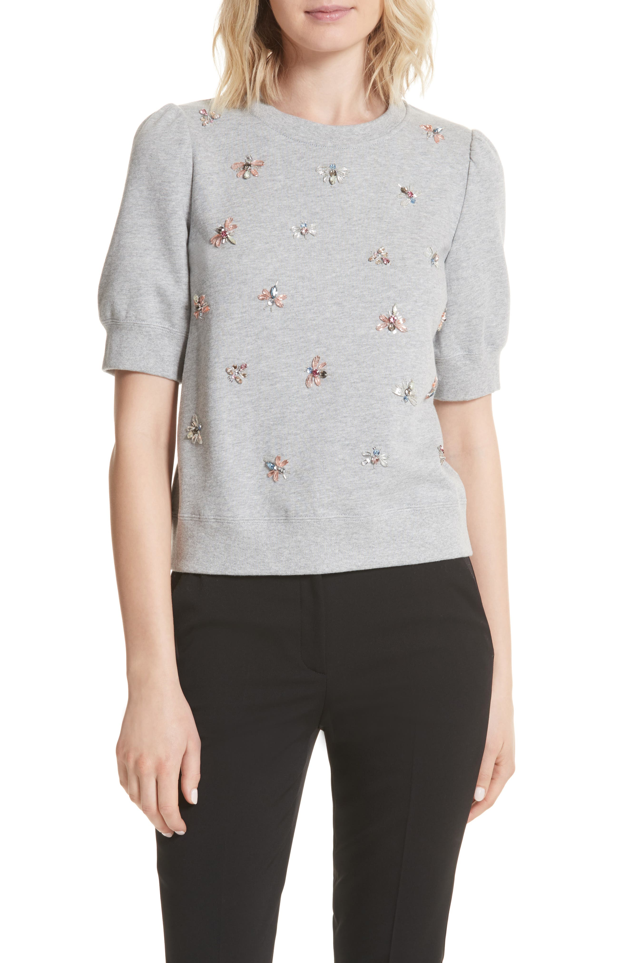kate spade new york bee embellished sweatshirt