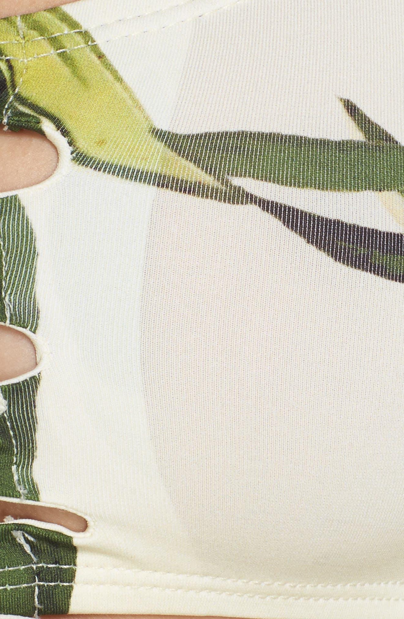 Hawaiian Floral Off the Shoulder Bikini Top,                             Alternate thumbnail 3, color,                             Multi