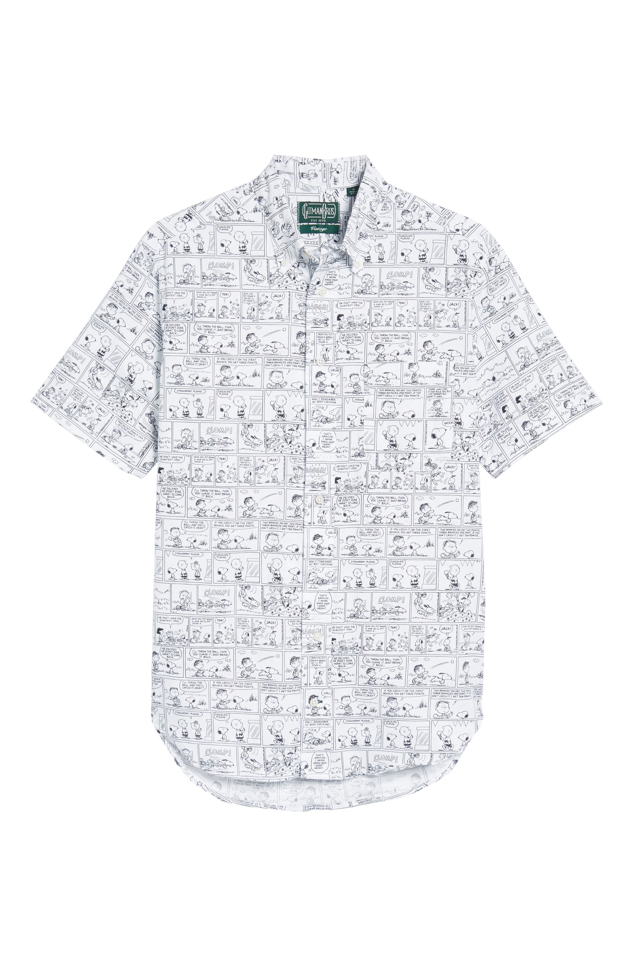 Gitman Peanuts Print Short Sleeve Sport Shirt (Limited Edition) (Nordstrom Exclusive)
