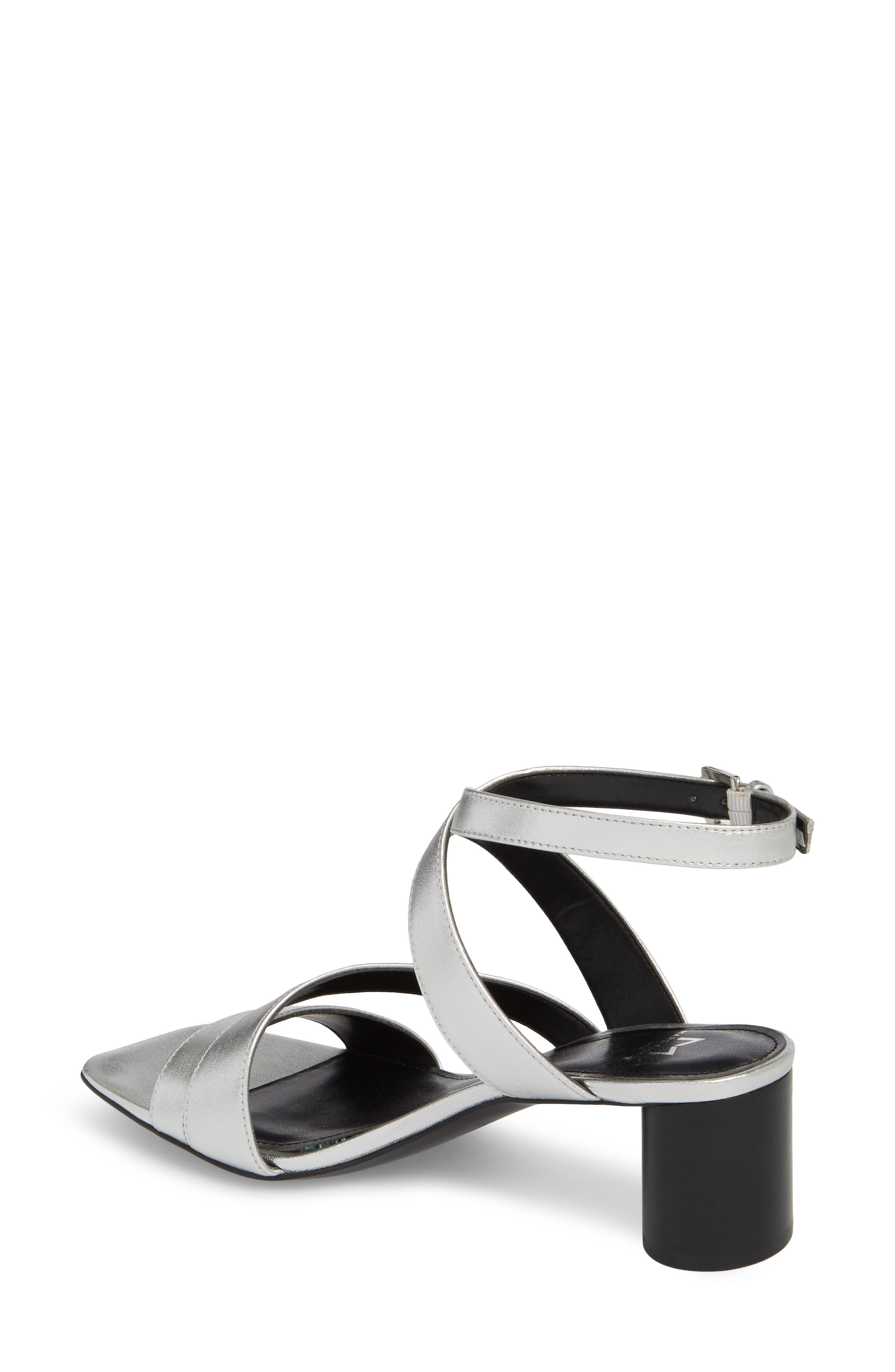 Marc Fischer LTD Idana Strappy Sandal,                             Alternate thumbnail 2, color,                             Silver Leather