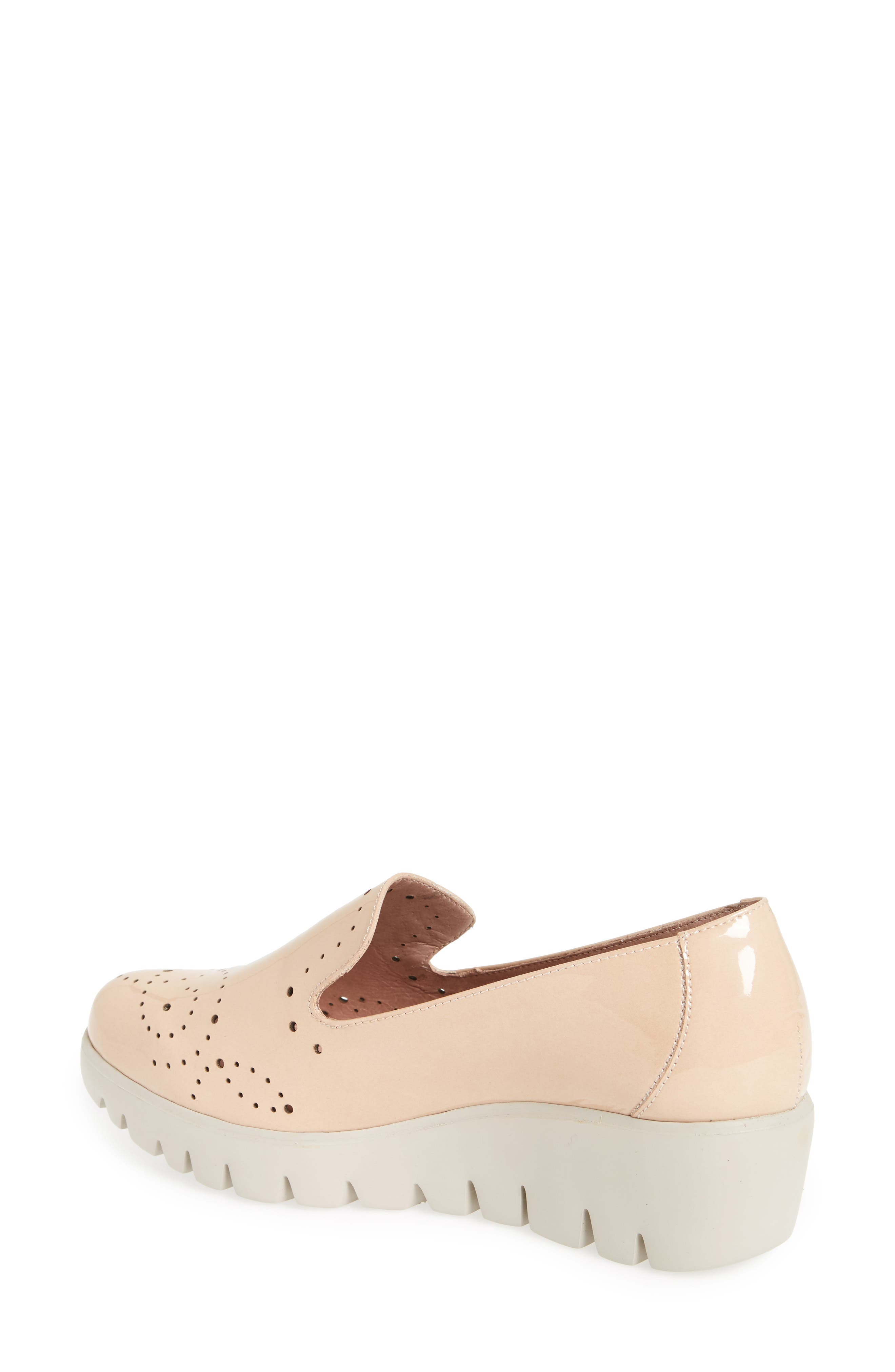 C-33114 Loafer Wedge,                             Alternate thumbnail 2, color,                             Palo Beige Leather