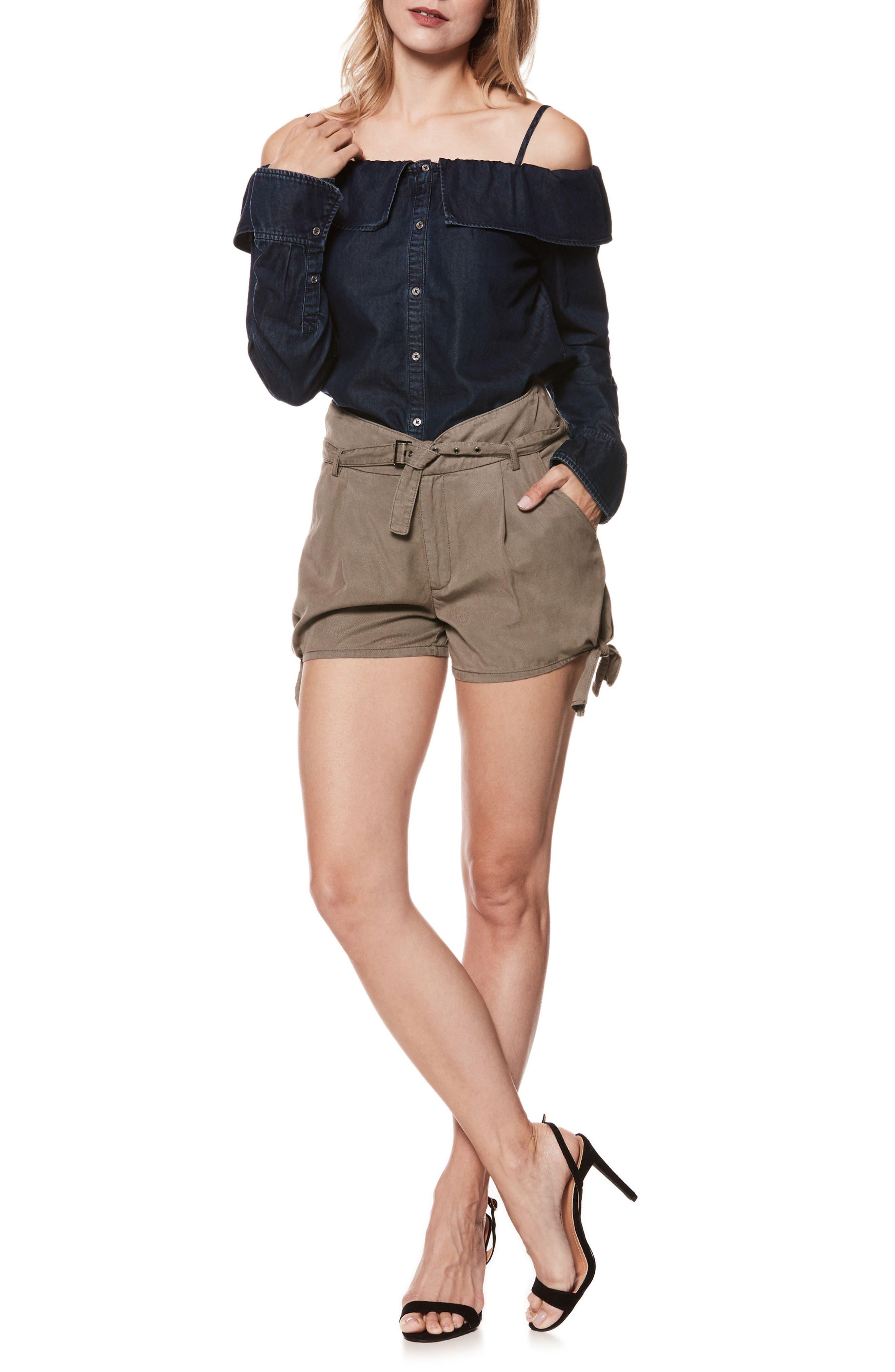 Alternate Image 7  - PAIGE Claudette Tie Hem Shorts