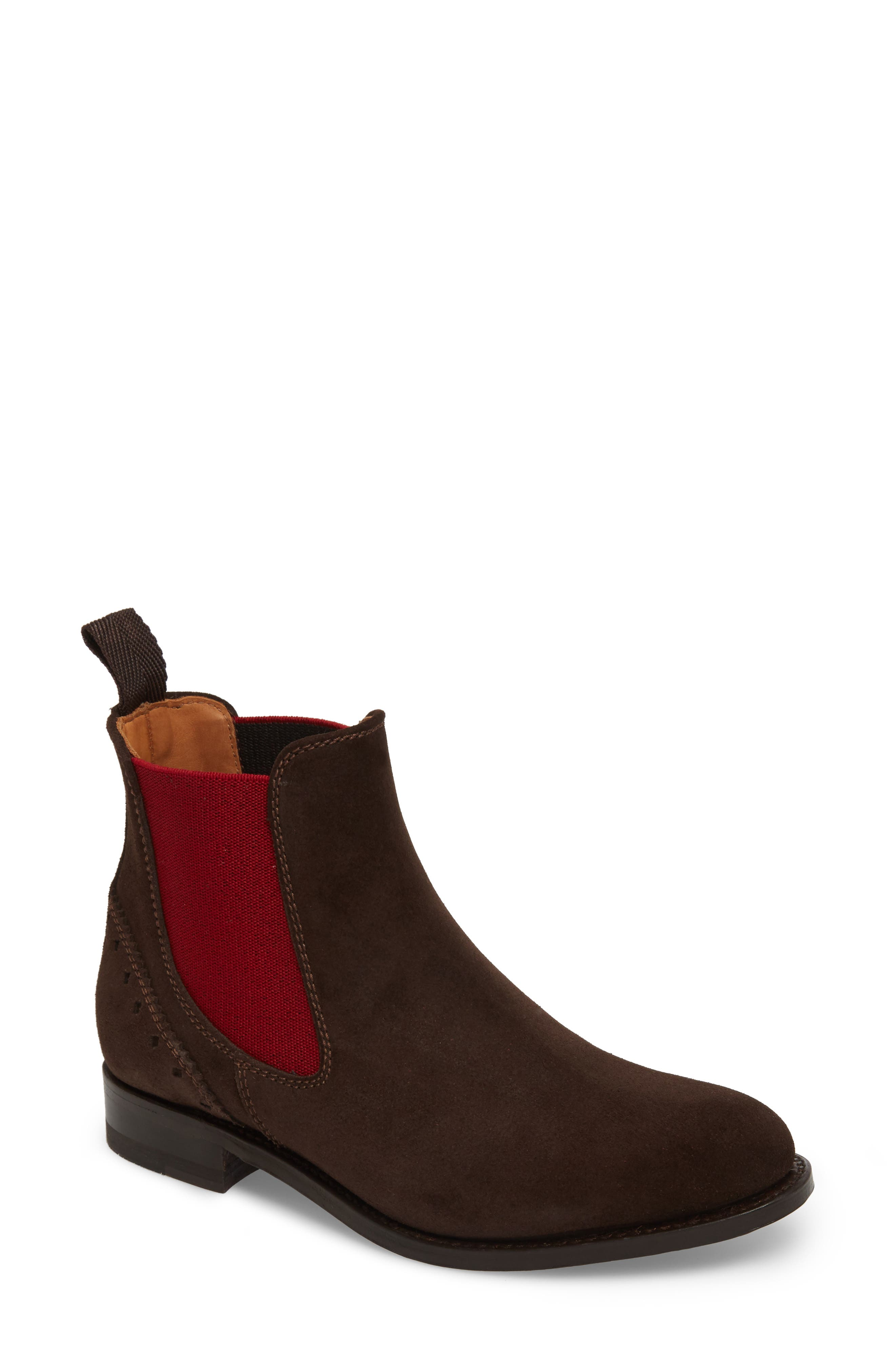 Benissa Lux Chelsea Boot,                             Main thumbnail 1, color,                             Brown Suede
