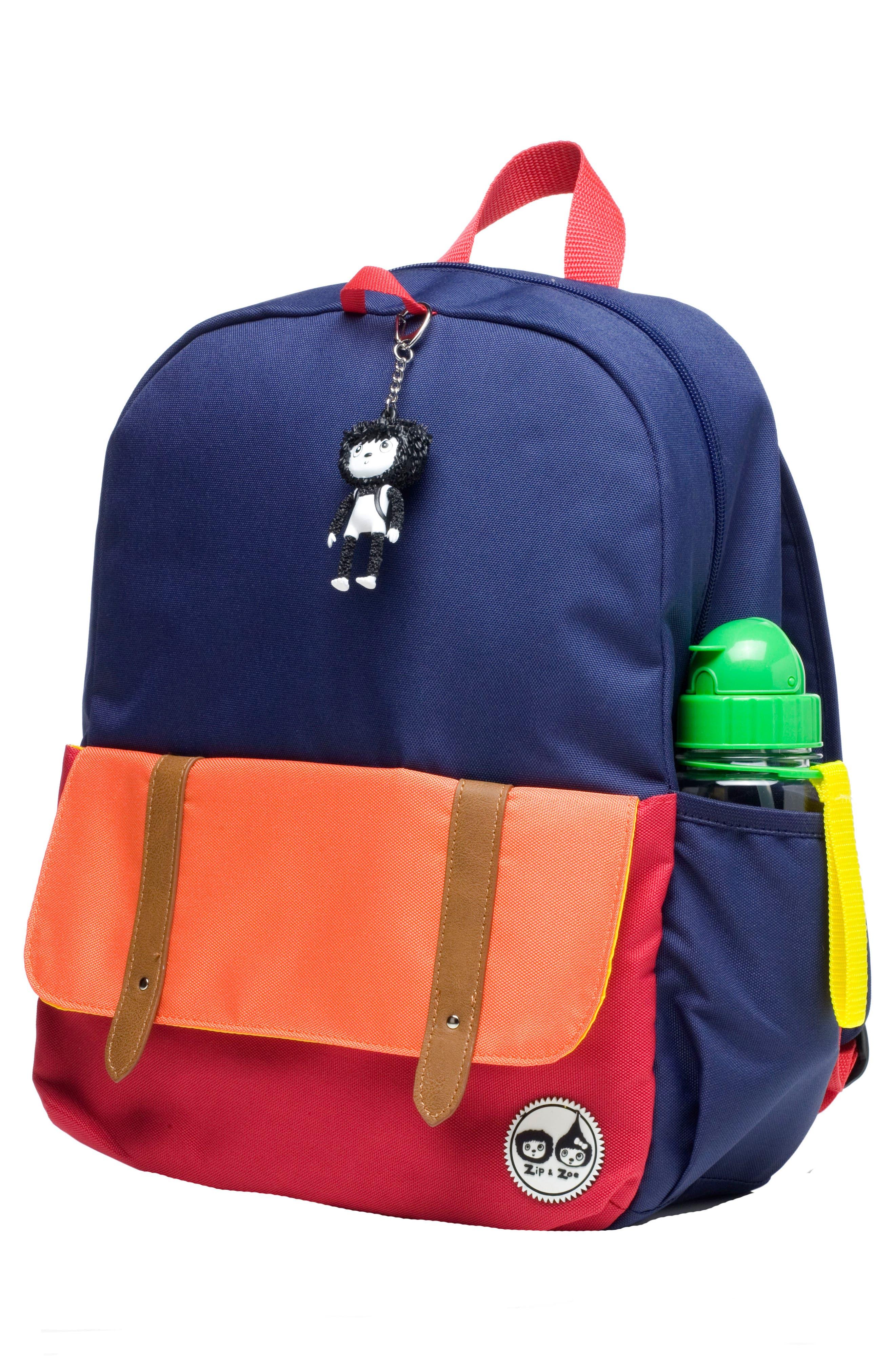 Zip & Zoe Colorblock Junior Backpack,                             Alternate thumbnail 2, color,                             Blue