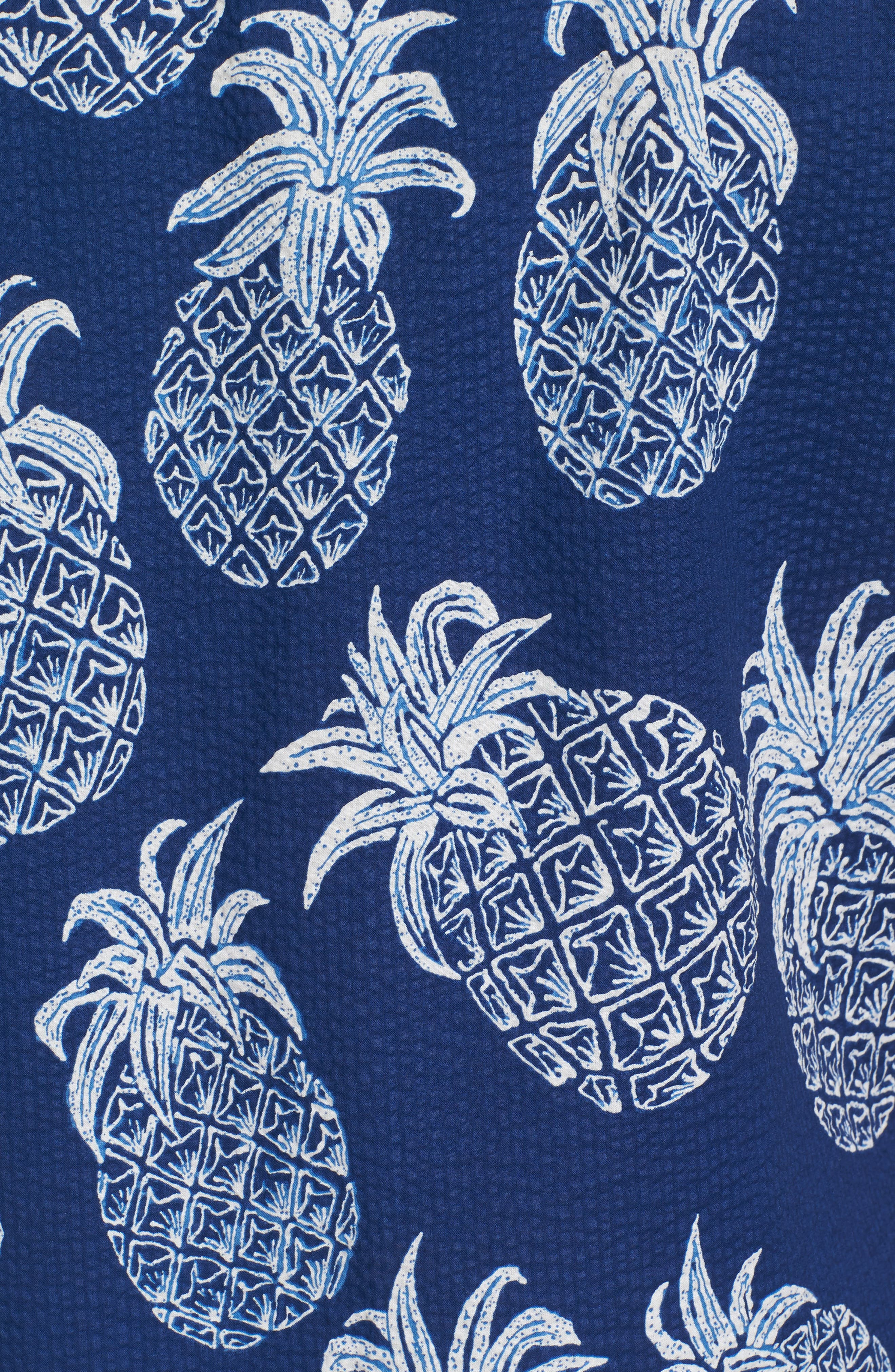 Sweet Tart Trim Fit Lawn Sport Shirt,                             Alternate thumbnail 5, color,                             Navy
