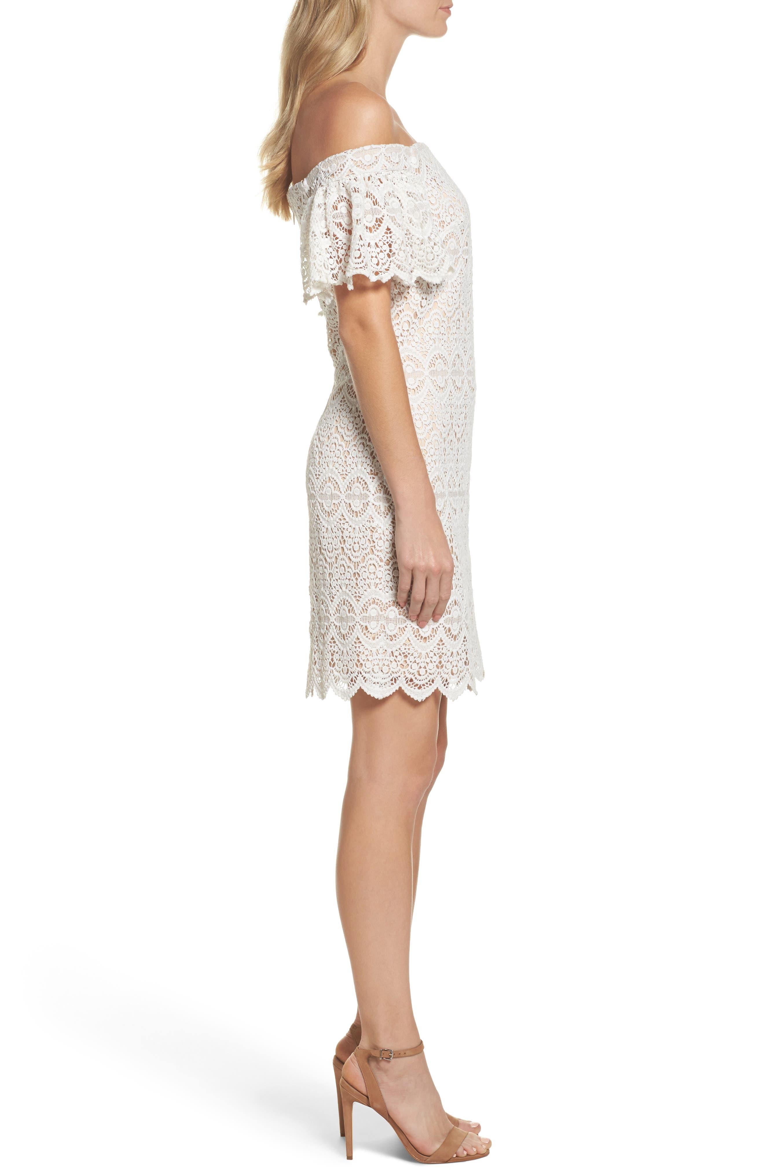 Alternate Image 3  - Eliza J Off the Shoulder Lace Dress