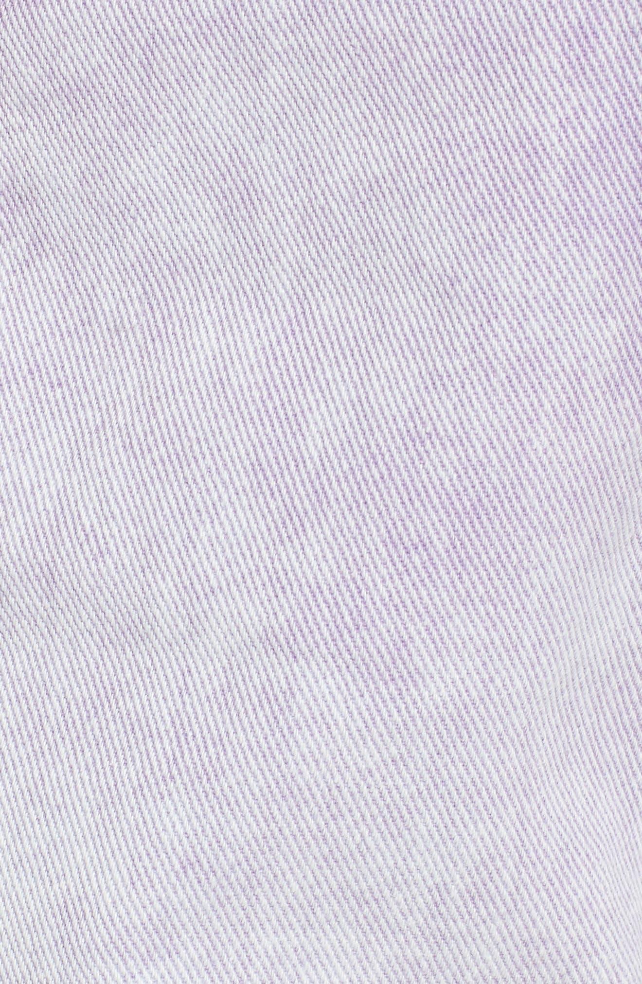 Unionbay Devo Acid Wash Denim Shorts,                             Alternate thumbnail 5, color,                             Ultra Lilac